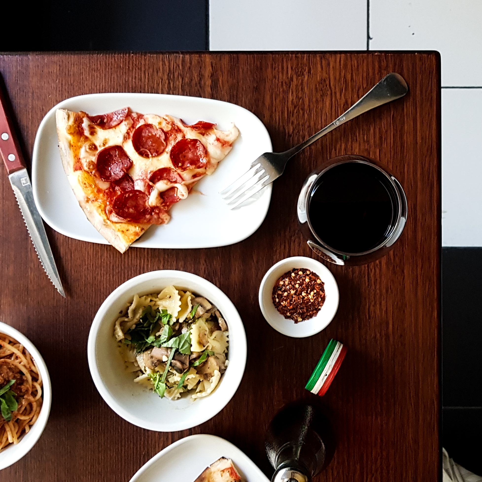 "Broadsheet July 2019 - First came unlimited pizza and pasta, now bottomless booze is here.""Pizza Autentico is celebrating its fifth anniversary the only way it knows how: with unlimited pizza and pasta and bottomless beer and wine.The unlimited pizza and pasta deal costs $25 per person and is available every day; the bottomless drinks option is $50 per person and available to groups of four or less every day, and to groups of five or more Monday to Thursday…"""