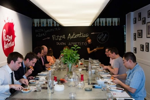 "Good Food: May 2014 - ""If you thought all-you-can-eat restaurants expired in a grave of 1990s-style bain-marie Chinese, it's back. with the reimagined all-you-can-eat concept Pizza Autentico. Inspiration for Pizza Autentico came from Brazilian churrasco restaurants, It buys a 90-minute timeslot in the restaurant in the evening… The simplicity of the concept lets us bring our costs down. And it is pretty easy to understand, there's a real appetite out there for it; you've only got to look at burgers, people like simple,"