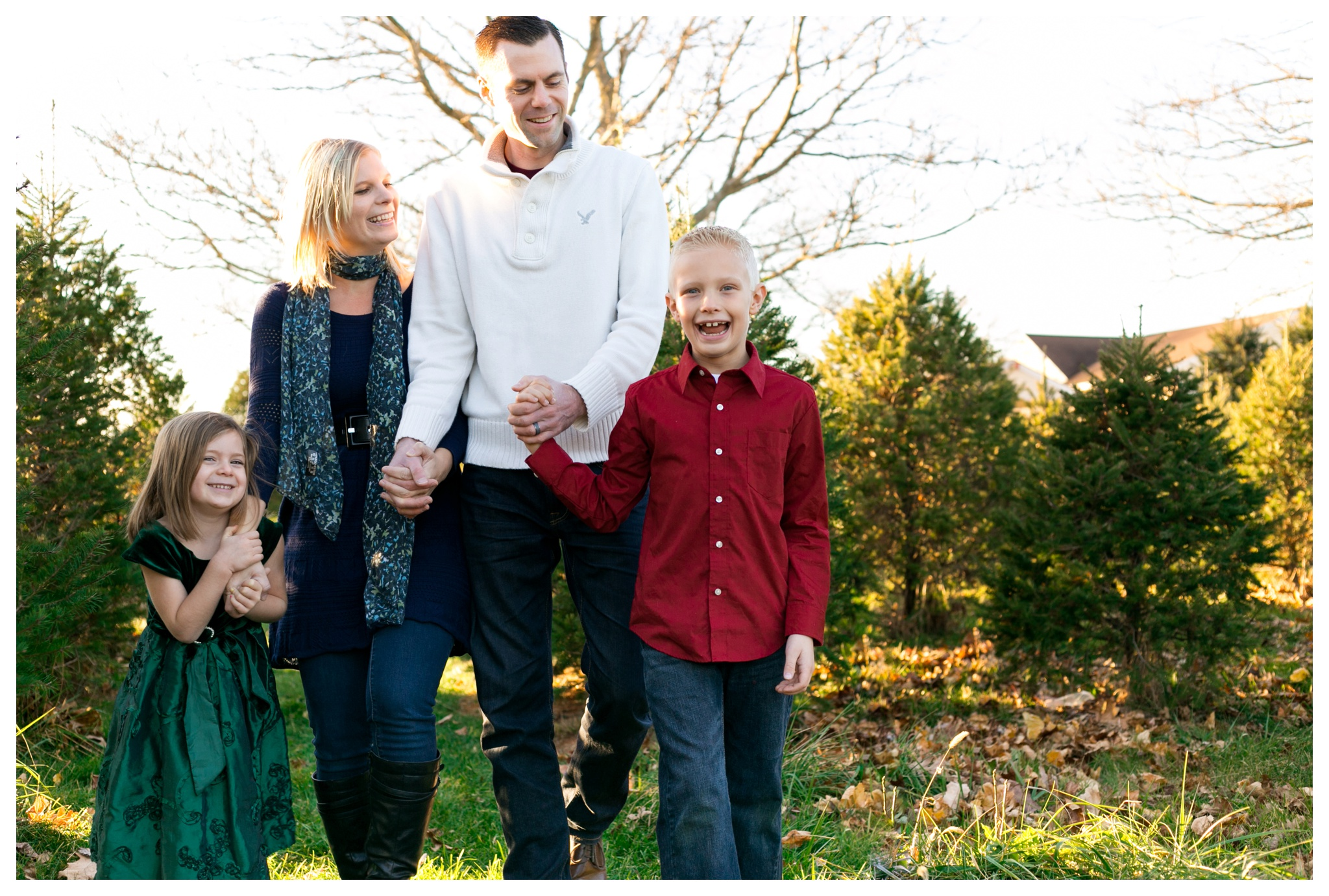 Kendra Marie Photography - Family Portrait Session Bowser's Christmas Tree Farm Lititz PA
