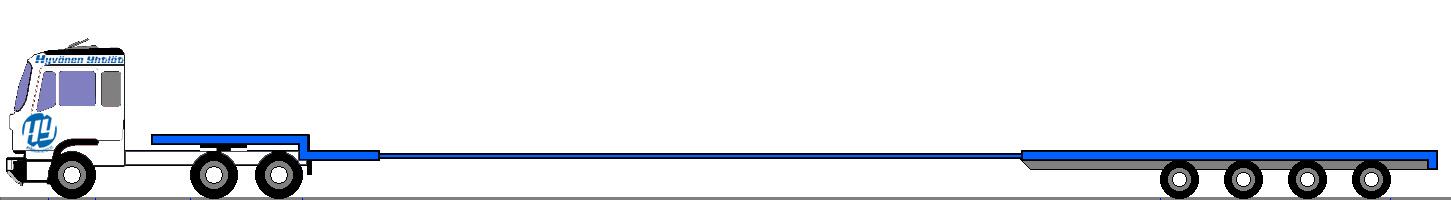 Kokonaispituus 27,0 m, alapedin lastauspituus 22,9 m ja lastauskorkeus 0,92 m / kantavuus max 63,0 tn