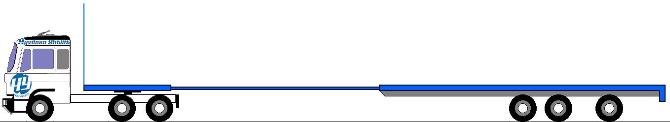Lastaustilan pituus max. 21,2 m / kantavuus max. 36,0 tn