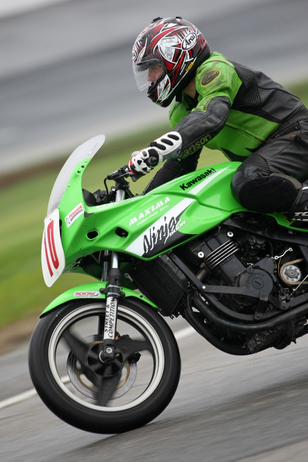 Jim Normand Racing his Motorcycle