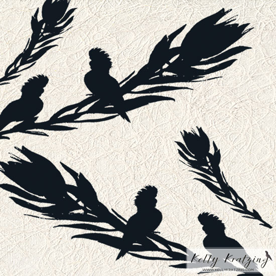 Black Cockatoo Silhouette