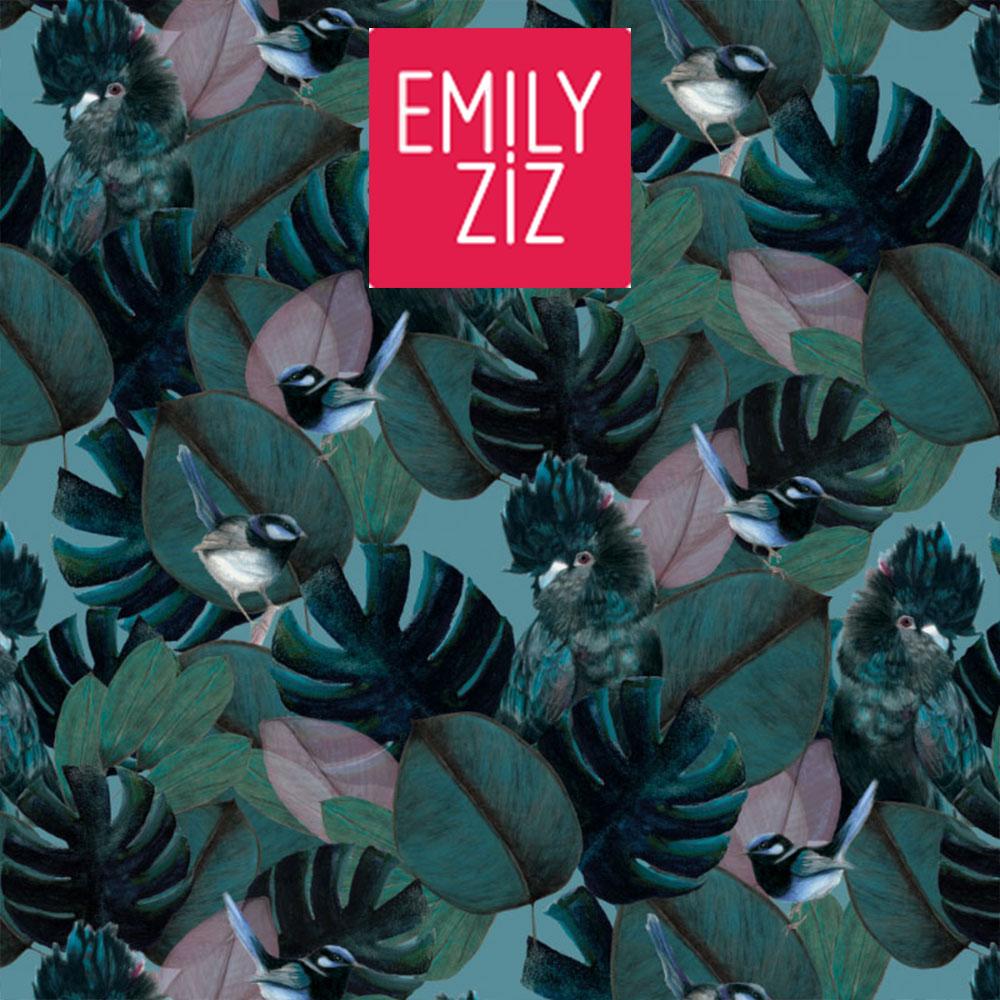 Audrey's Garden Wallpaper Collection for Emily Ziz
