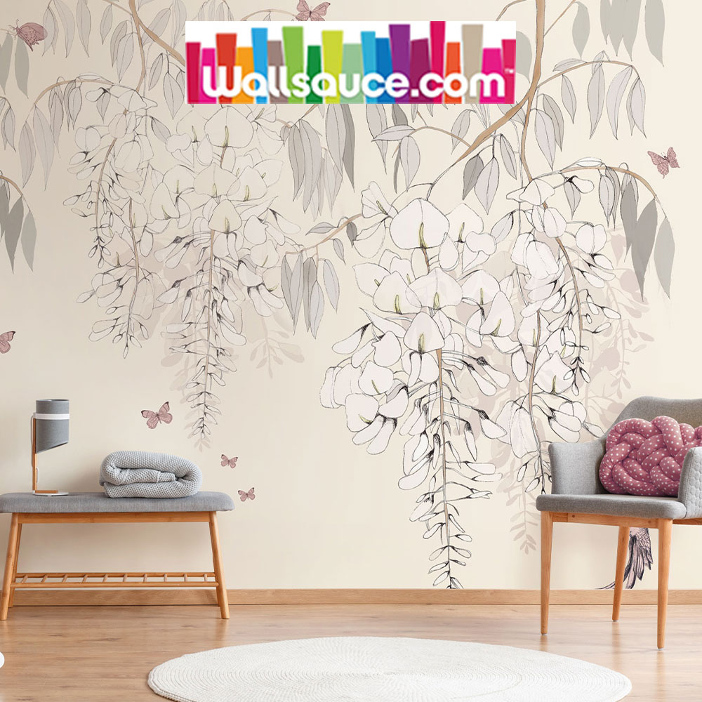 Wisteria Lane wall mural collection for Wallsauce
