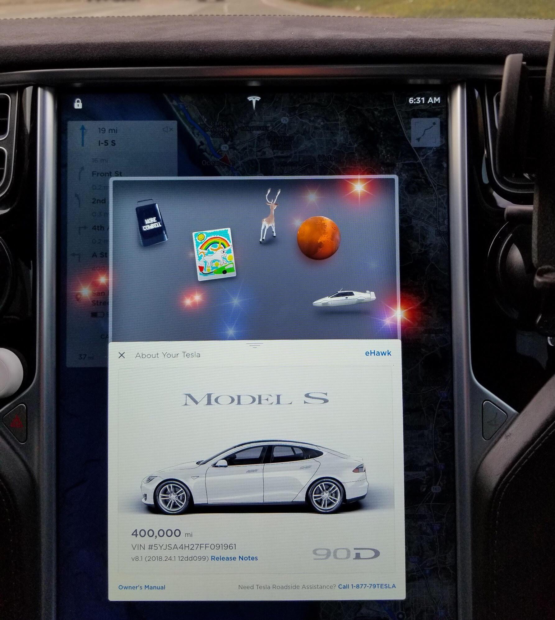 Tesloop's Tesla Model S Surpasses 400,000 miles (643,737 kM