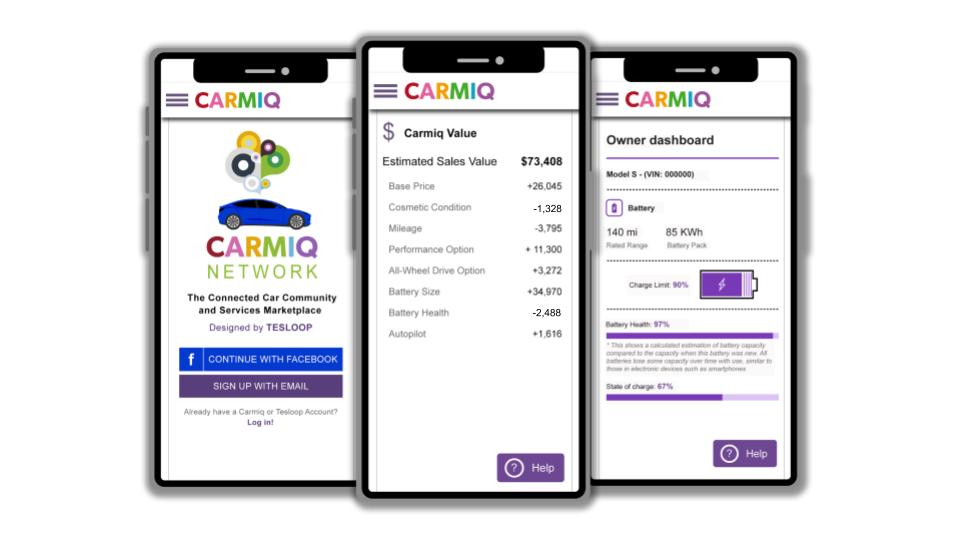 See your Tesla's valuation at  Carmiq.net