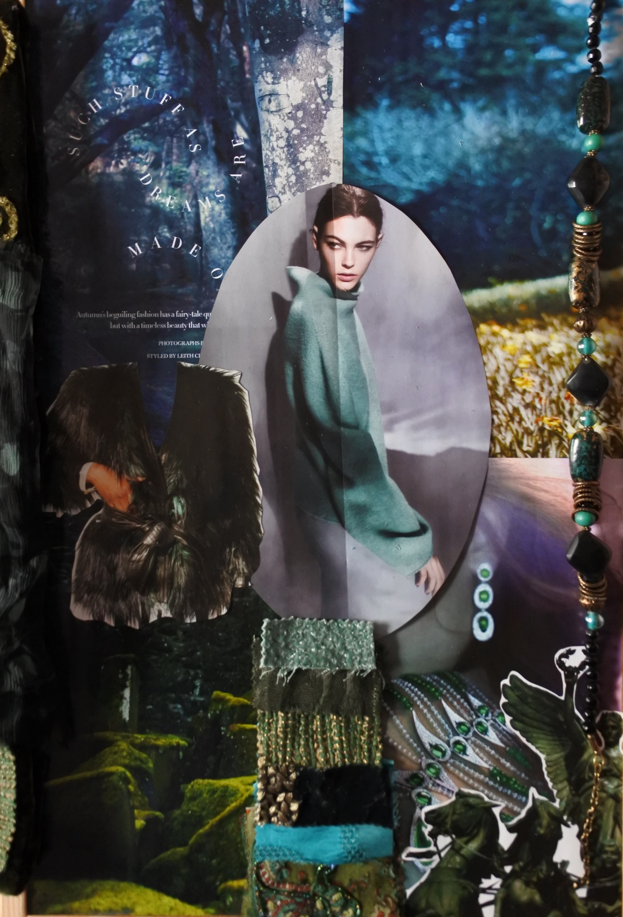 Mood boardfor Dress design 2 'Game of Thrones/Narnia' inspired.