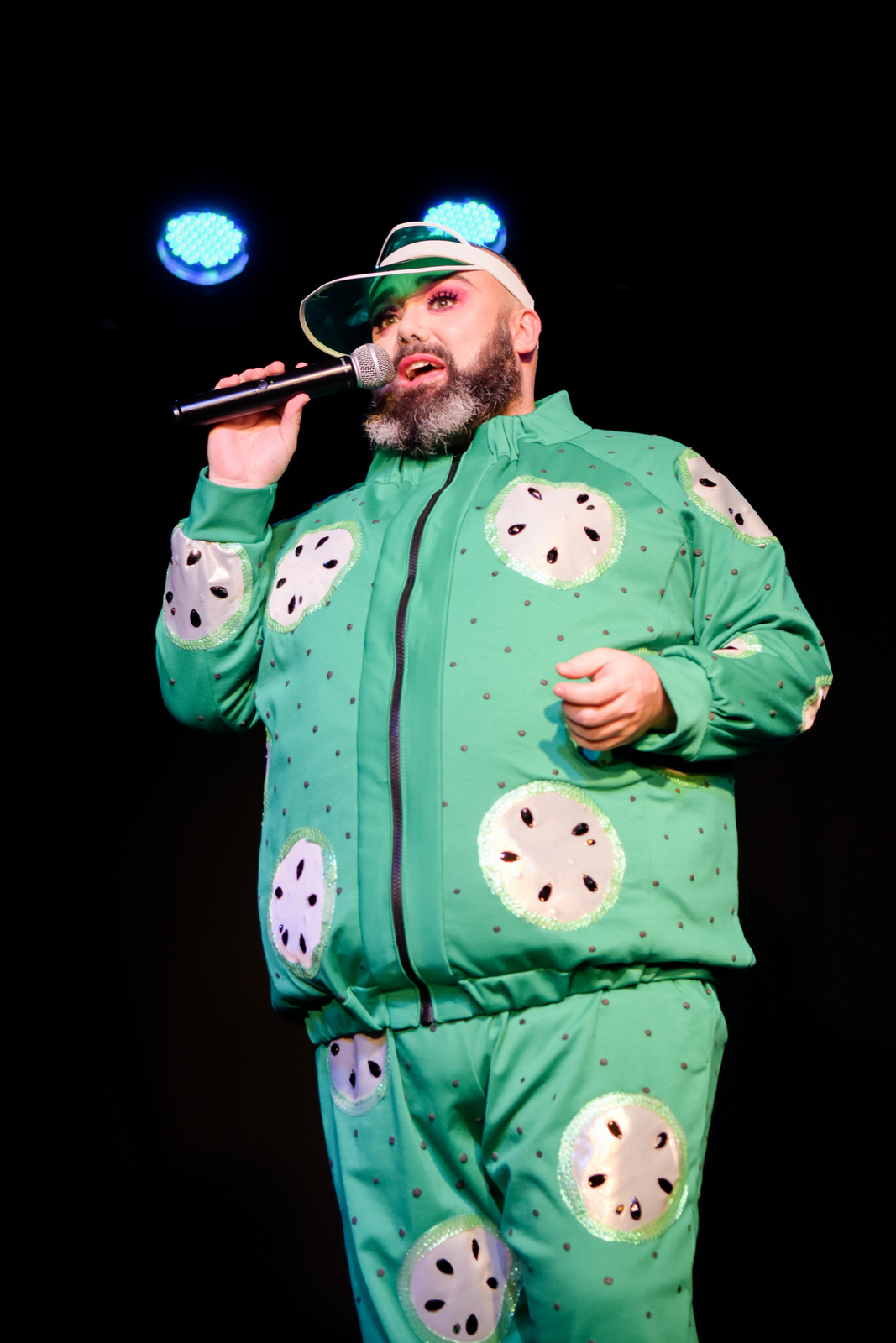 Cucumber Leisure Suit realised in cloth.