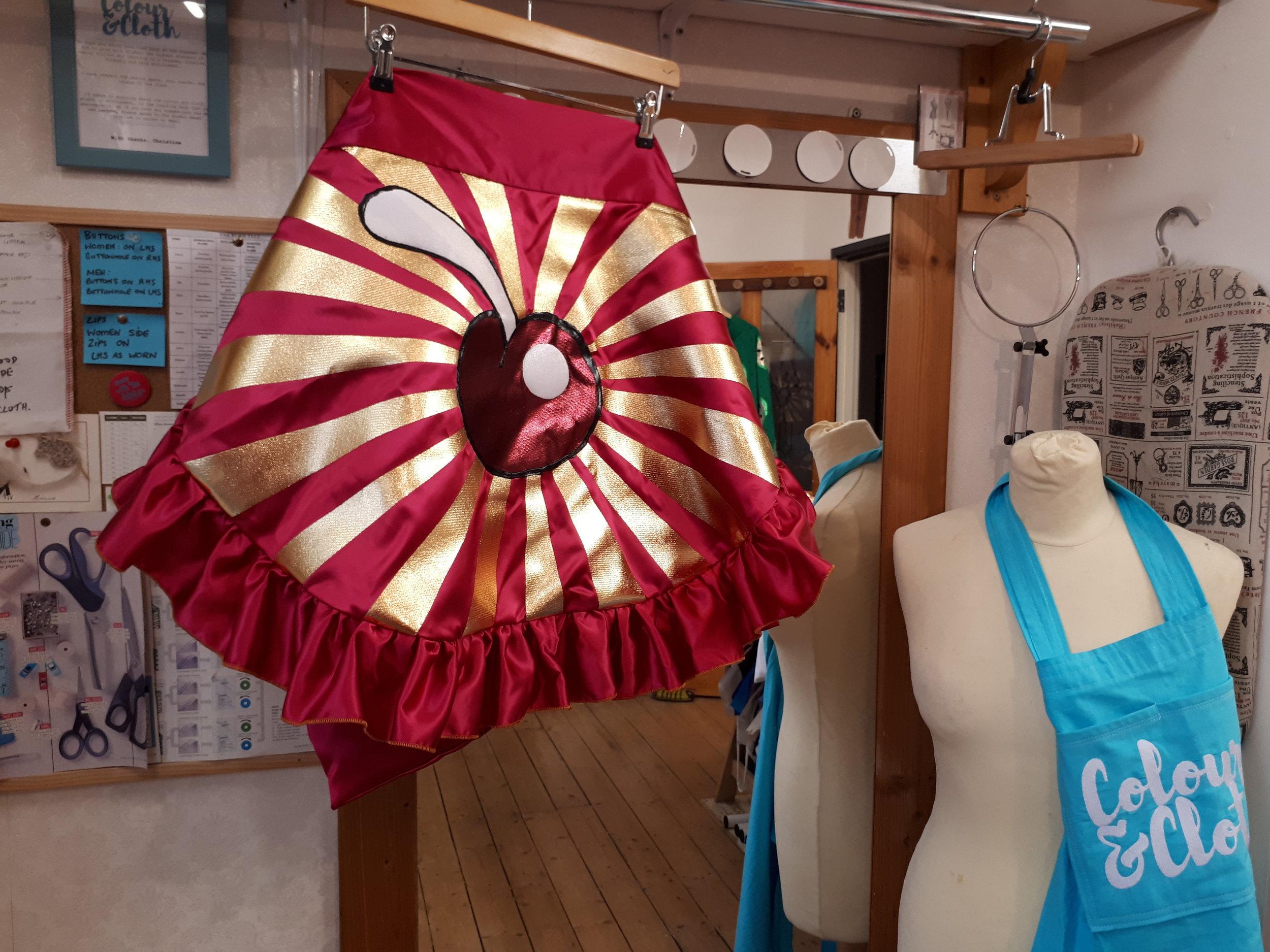 The apron in my Belfast studio before heading on tour to Australia