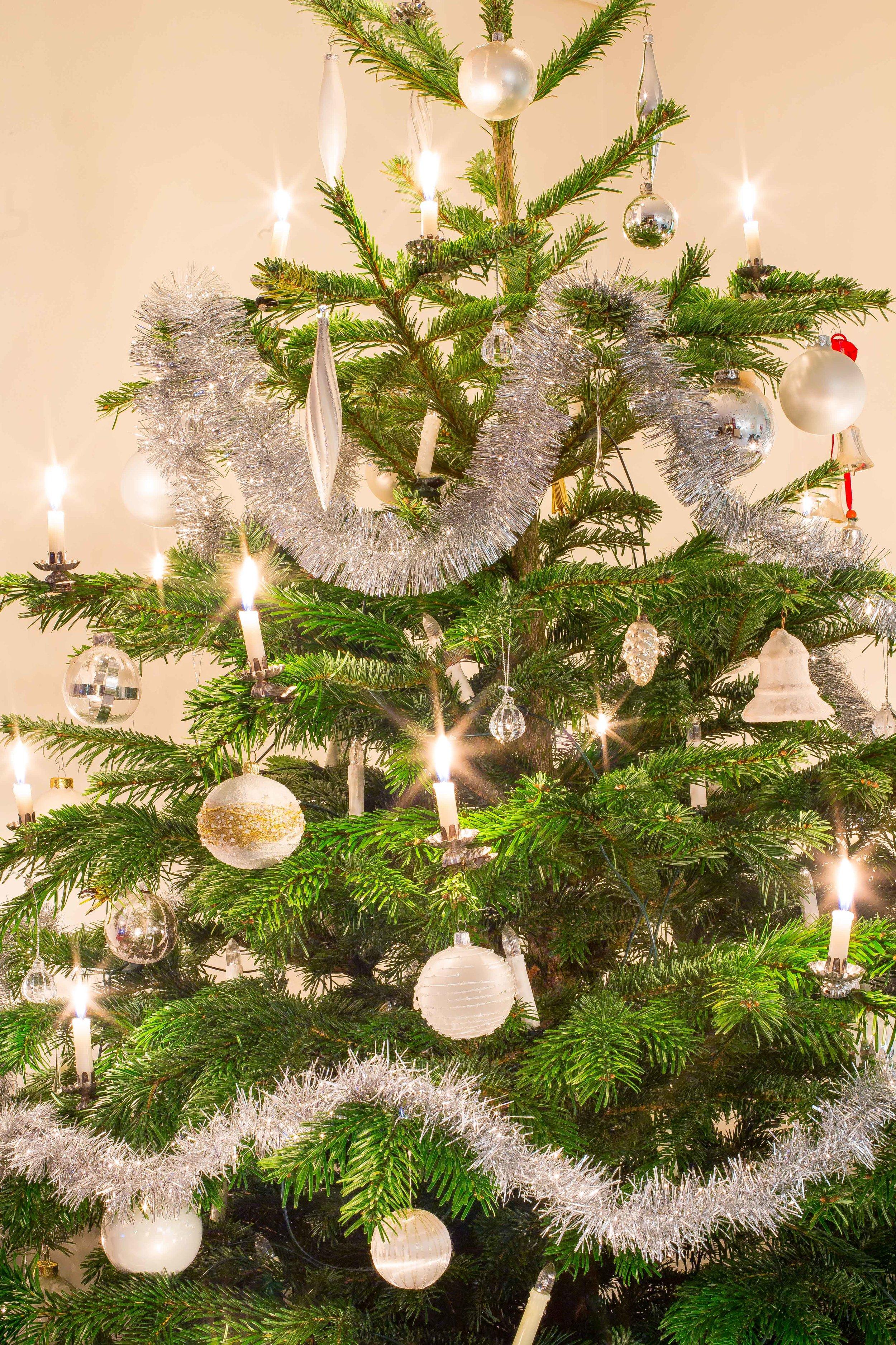 Kerstboom met kaarsjes