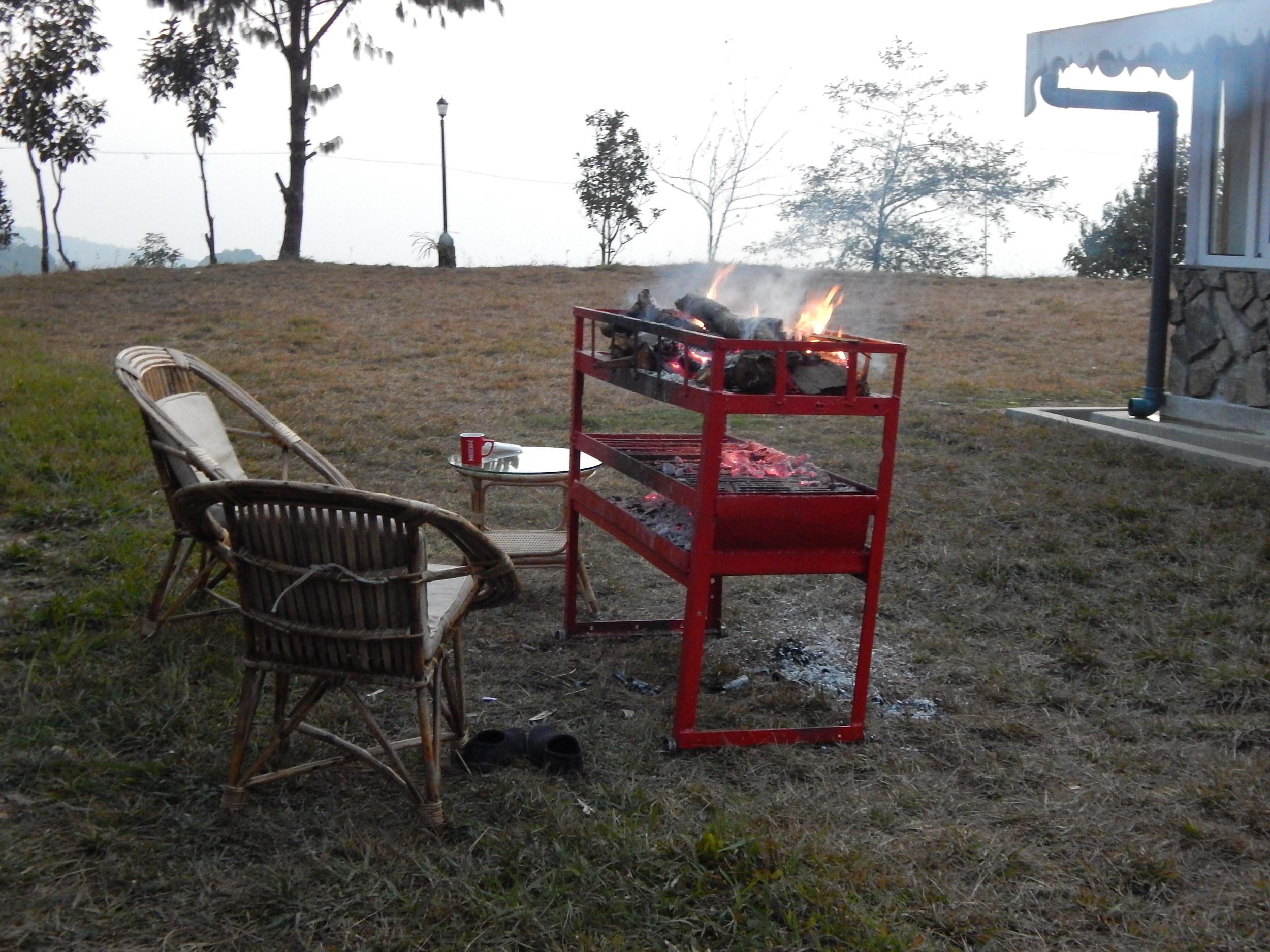 A winter barbecue