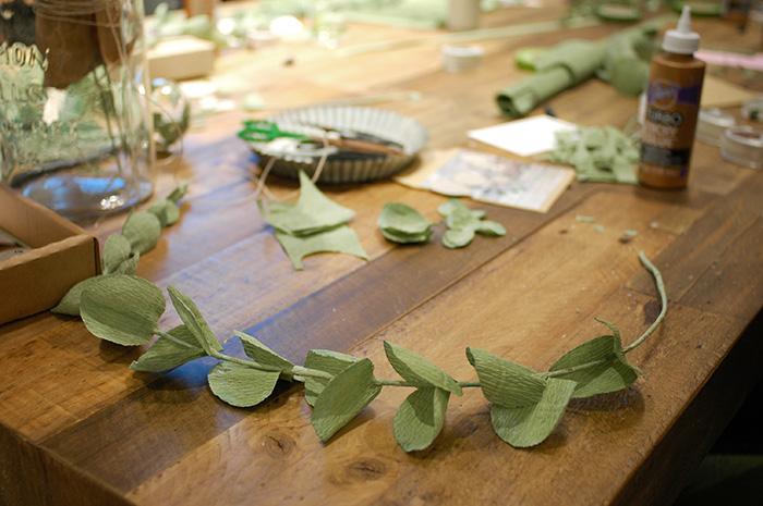 Eucalyptus wreath making with  Posy and Petal  / Photo: Caroline Rowland