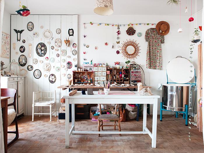Lise Meunier's studio - Photo:Joanna Maclennan