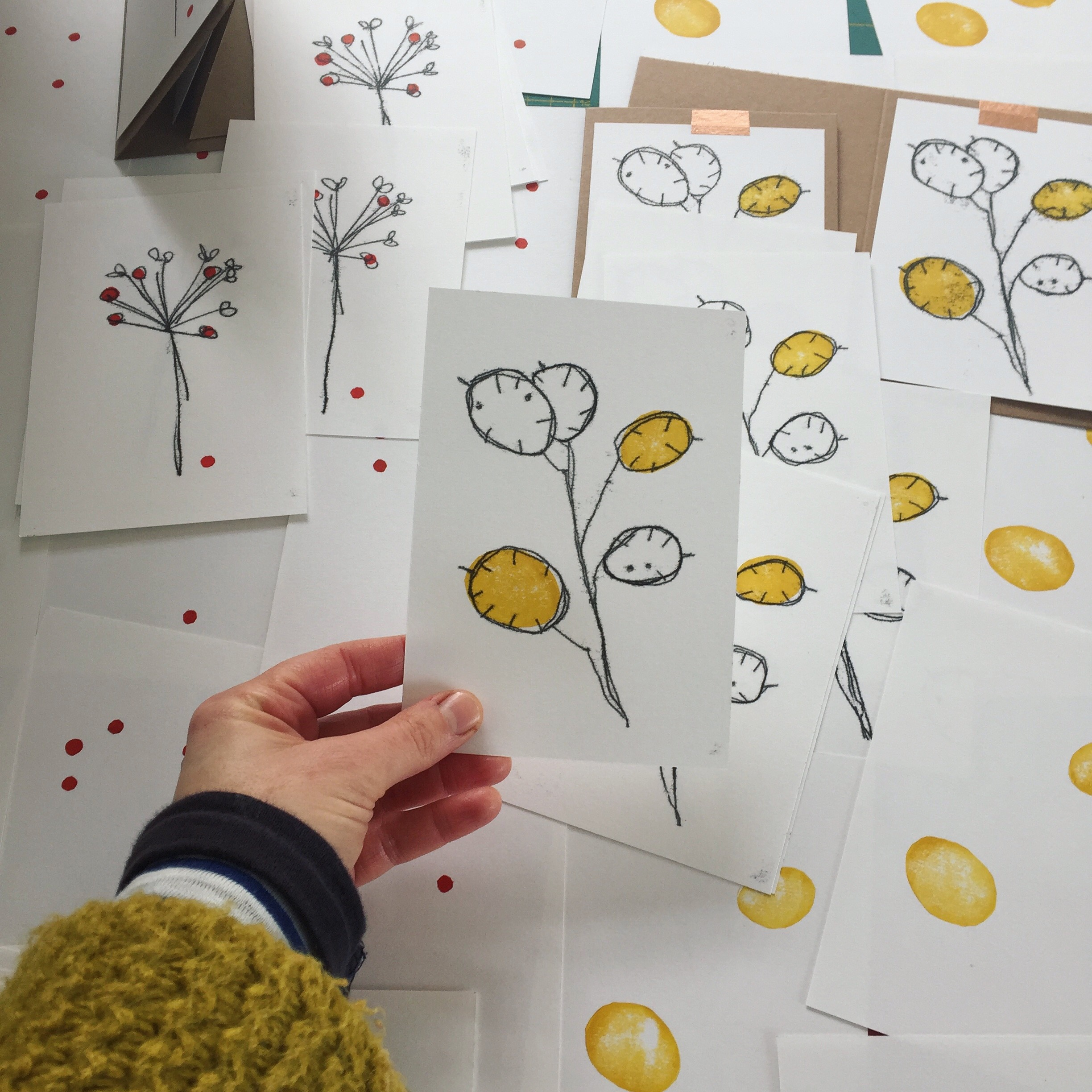 hand printing cards.JPG