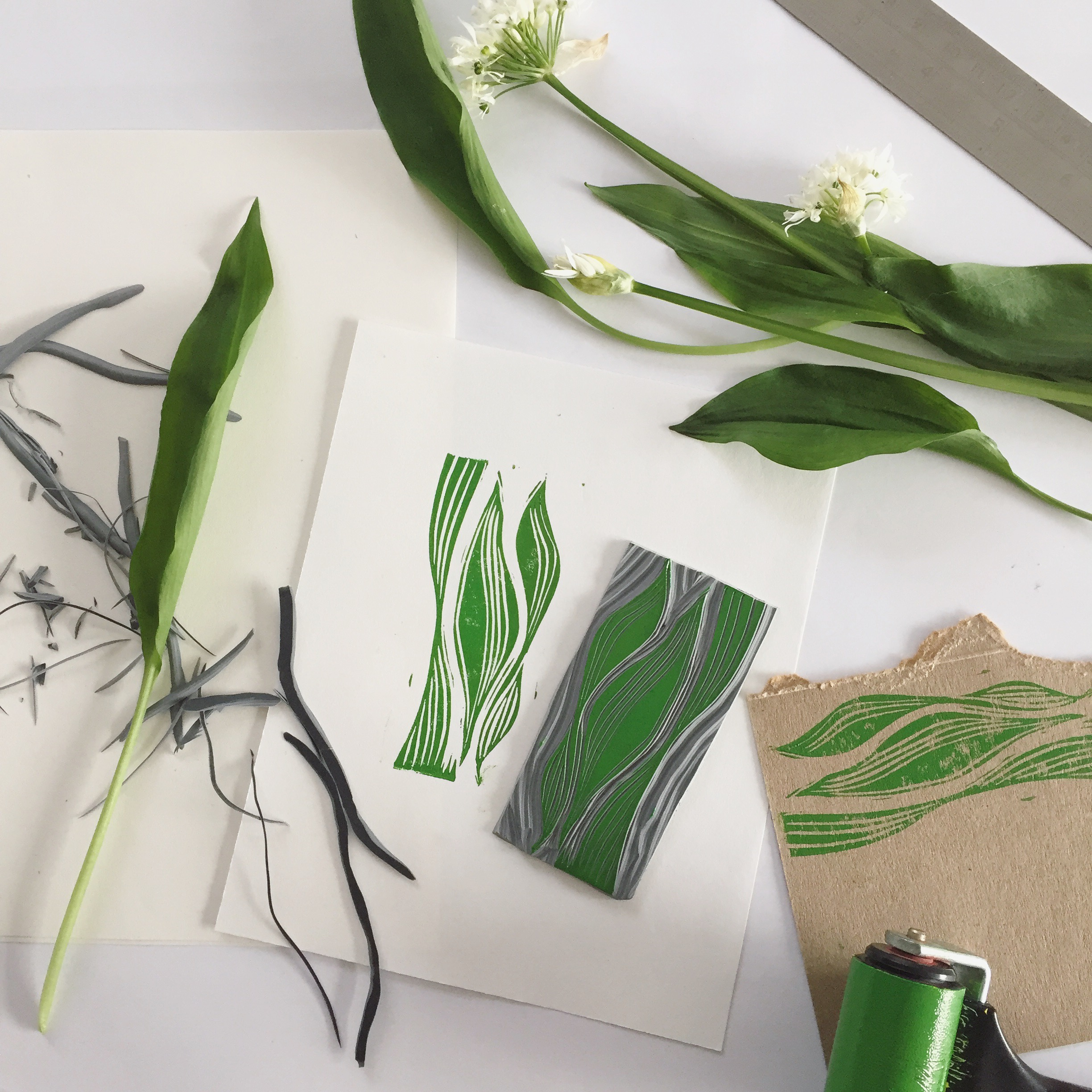 Wild garlic inspired a repeat pappern.JPG