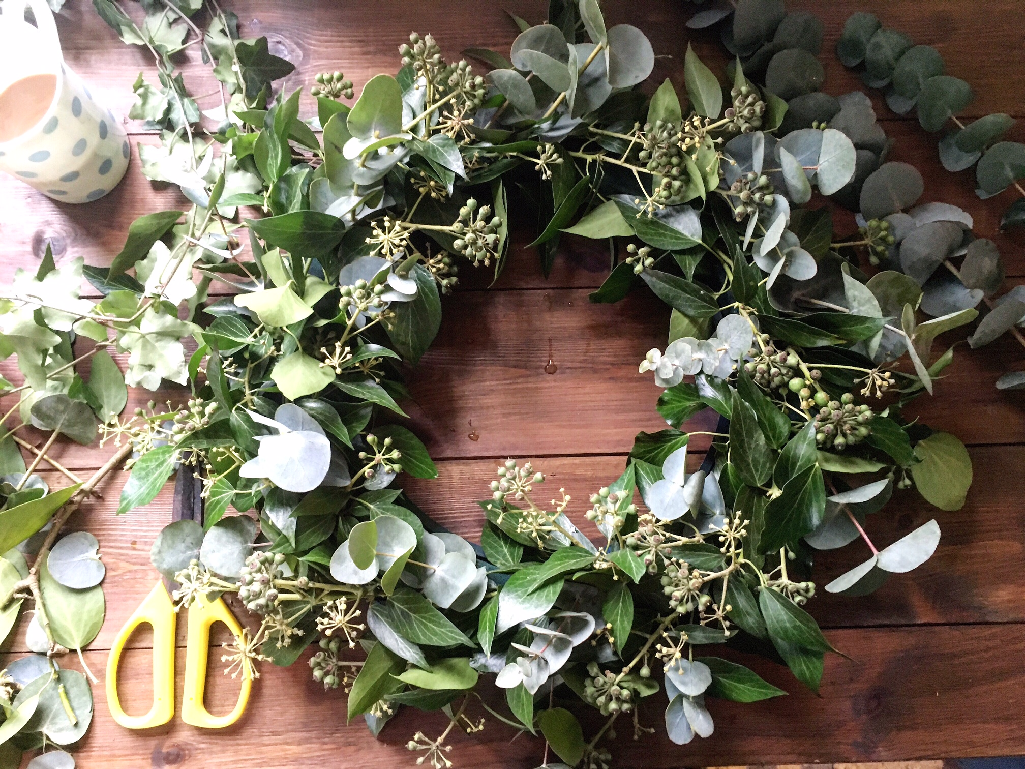 Rose and Grey wreath making workshop