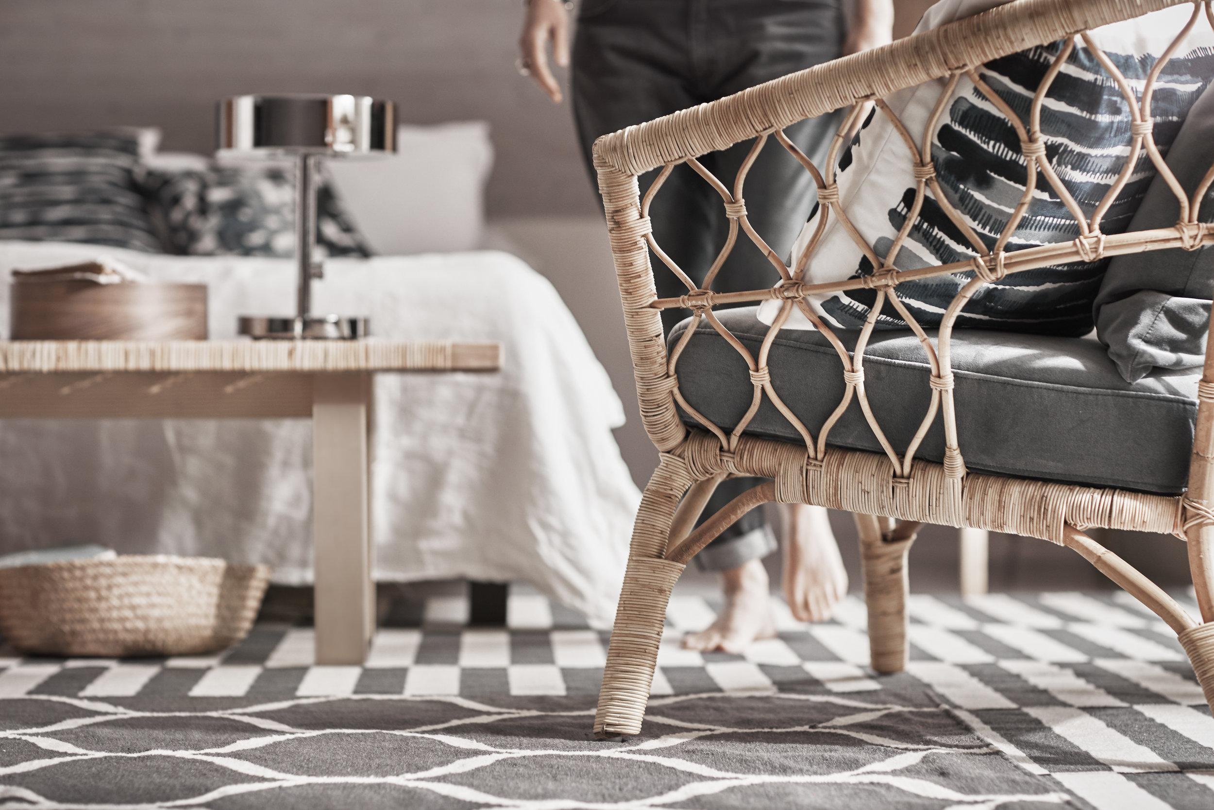 Rattan chair  - £175 - Ikea