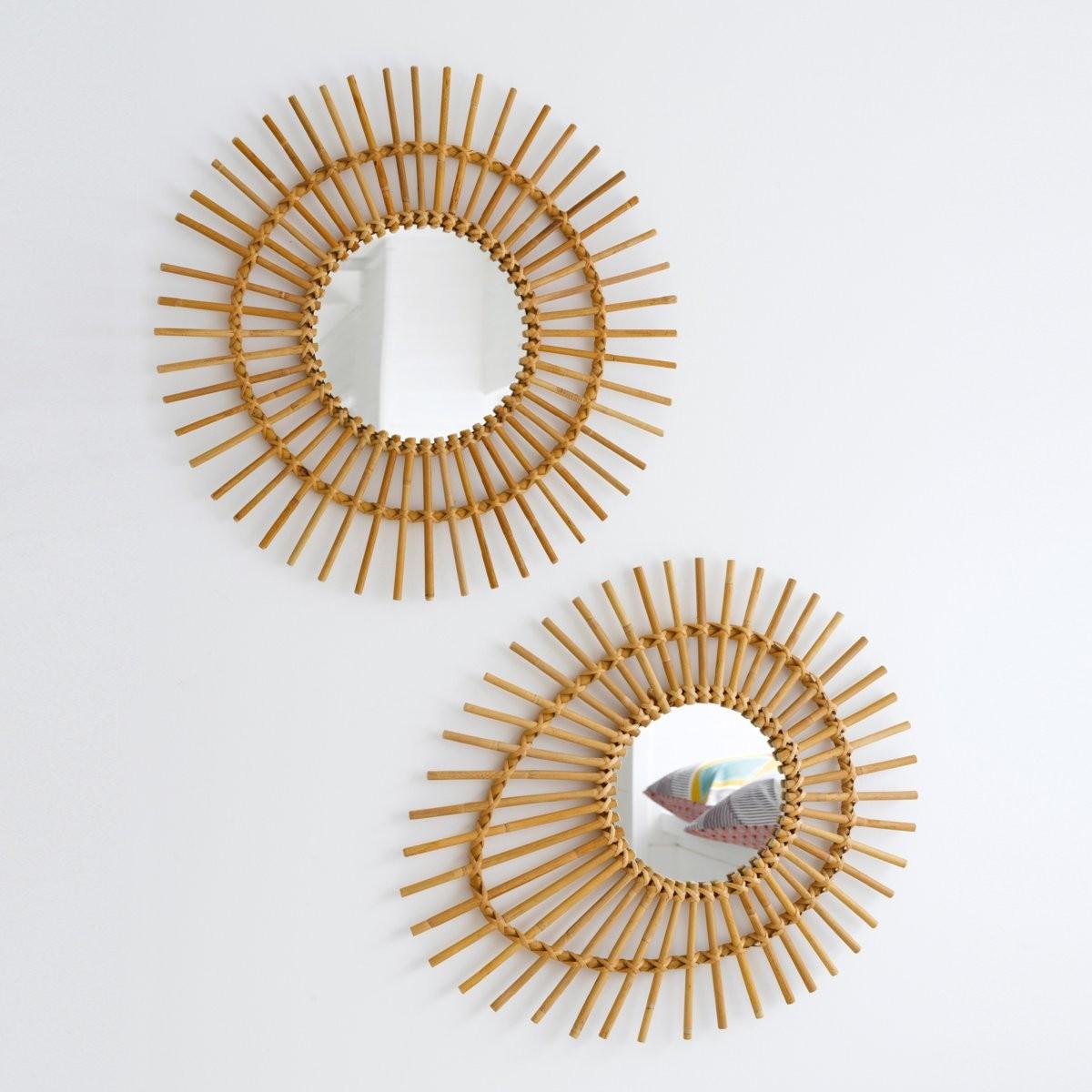 Rattan mirrors  - £69 - La Redoute