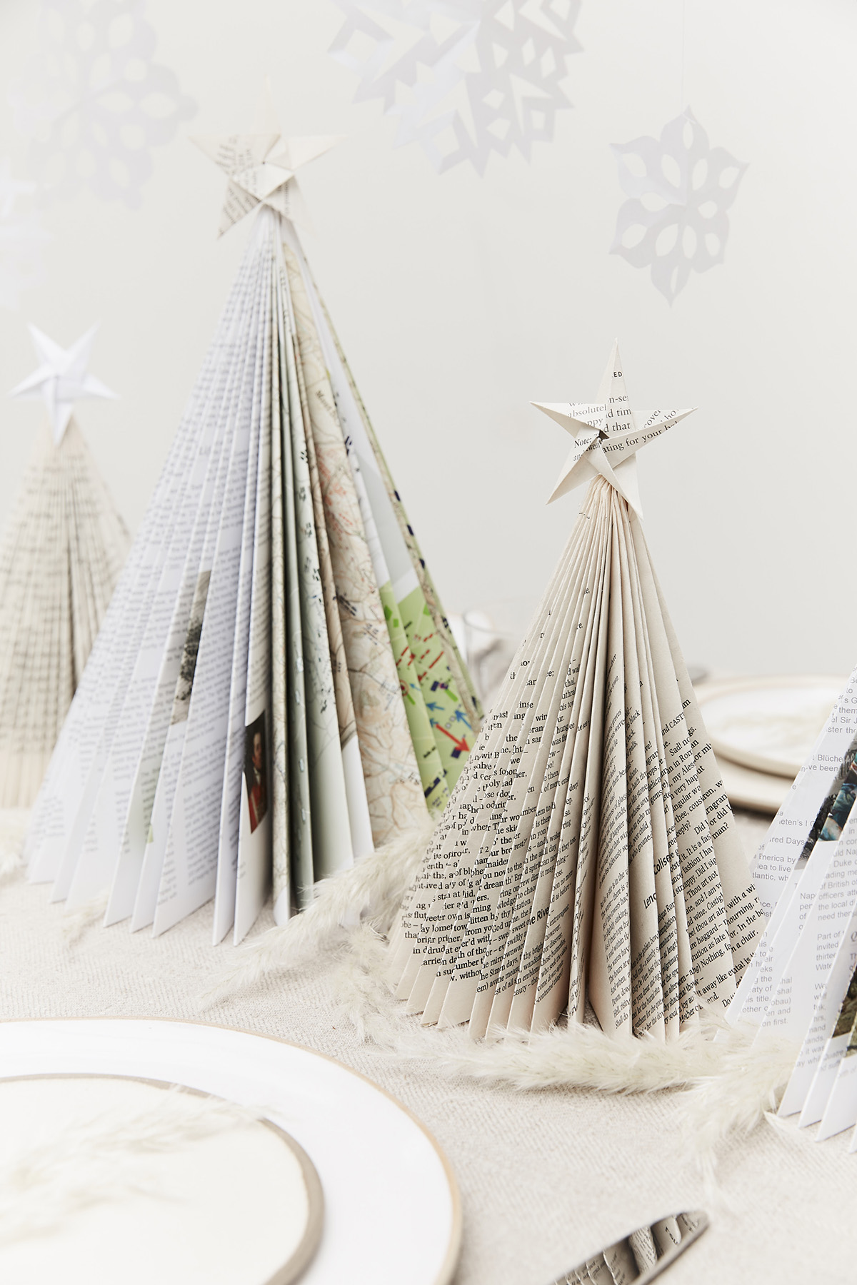 Handmade paper christmas decorations