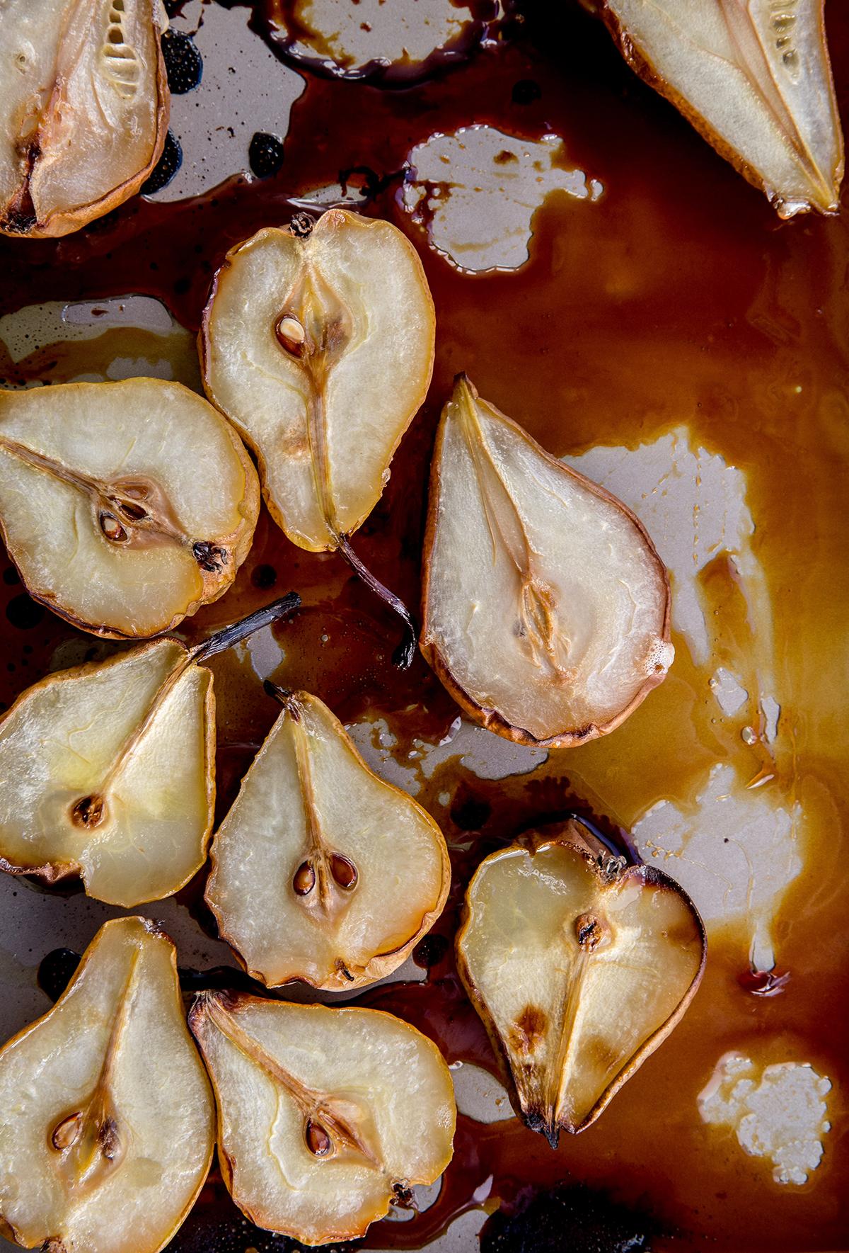 Honey roasted pears recipe