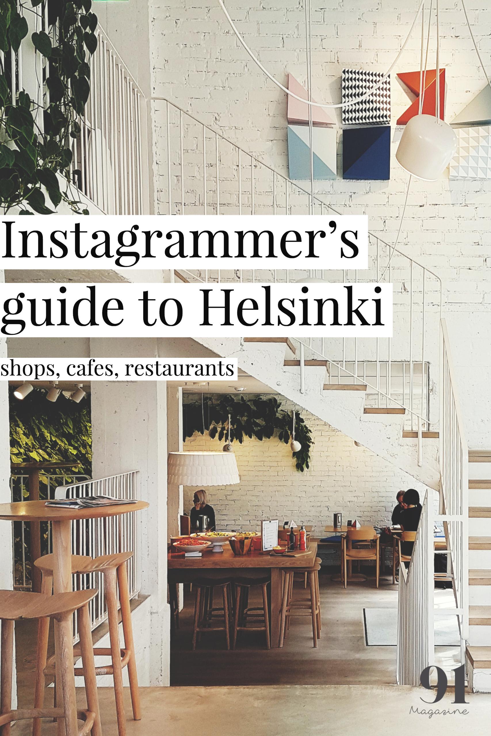 Instagrammer's guide to Helsinki