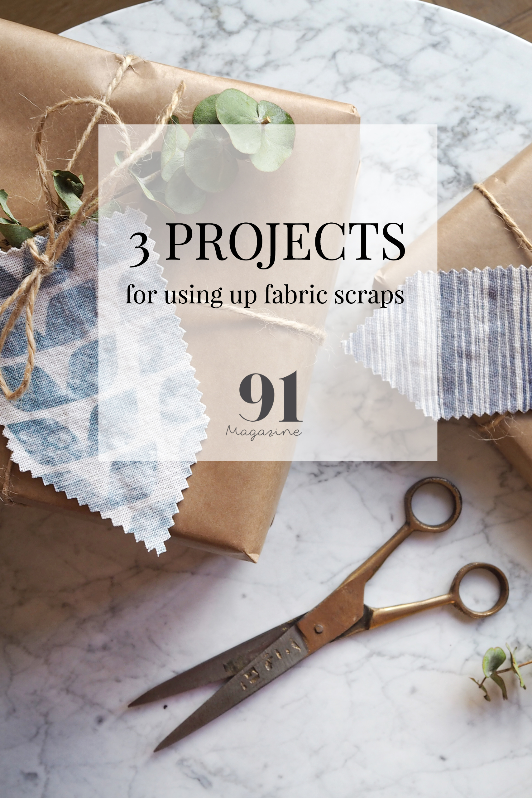 3 mini projects for using up fabric scraps