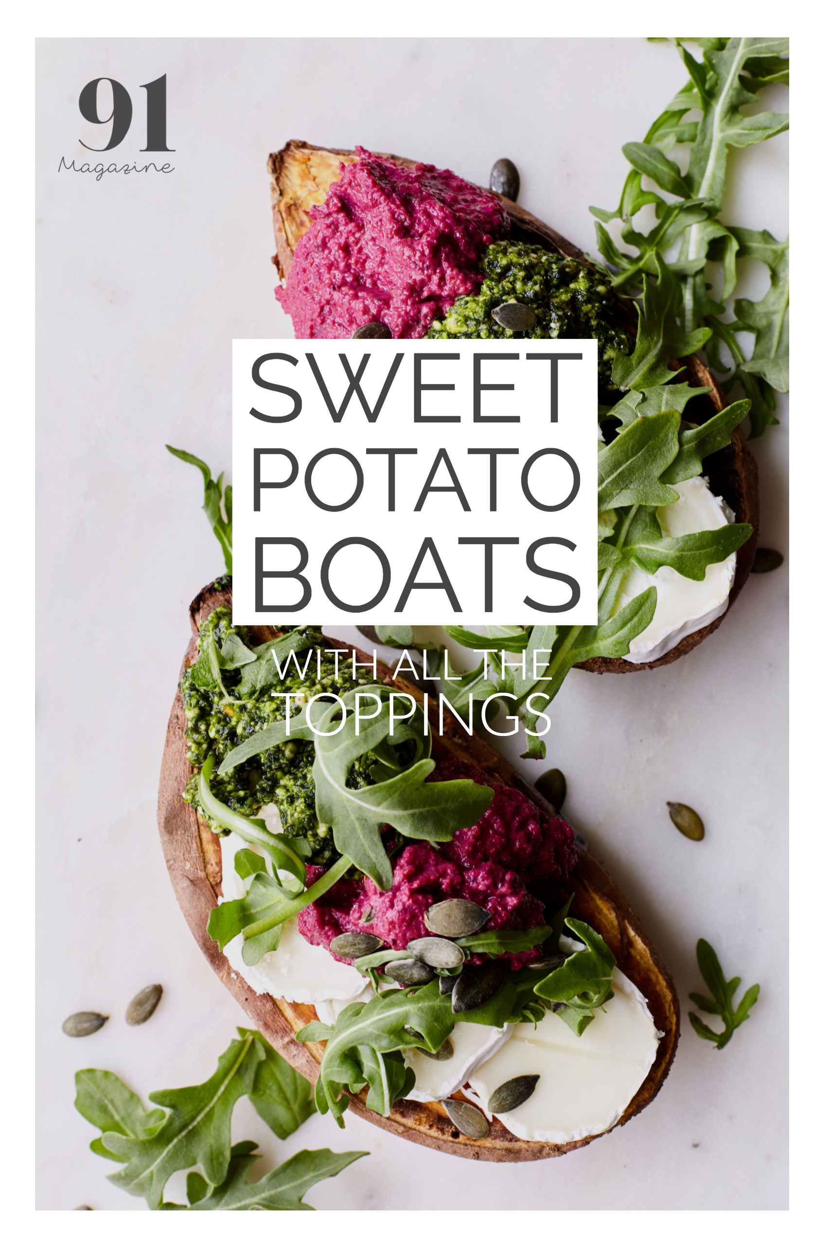RECIPE: Sweet potato boats with all the toppings