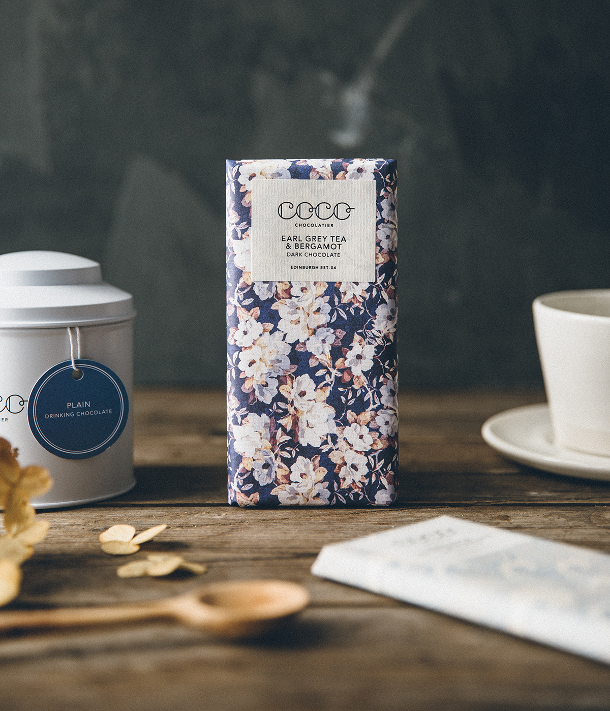 Earl Grey Tea & Bergamot Dark Chocolate,  The Future Kept , £4.50    Crafted by Coco Chocolatier in Edinburgh, this bar is beautiful inside and out.