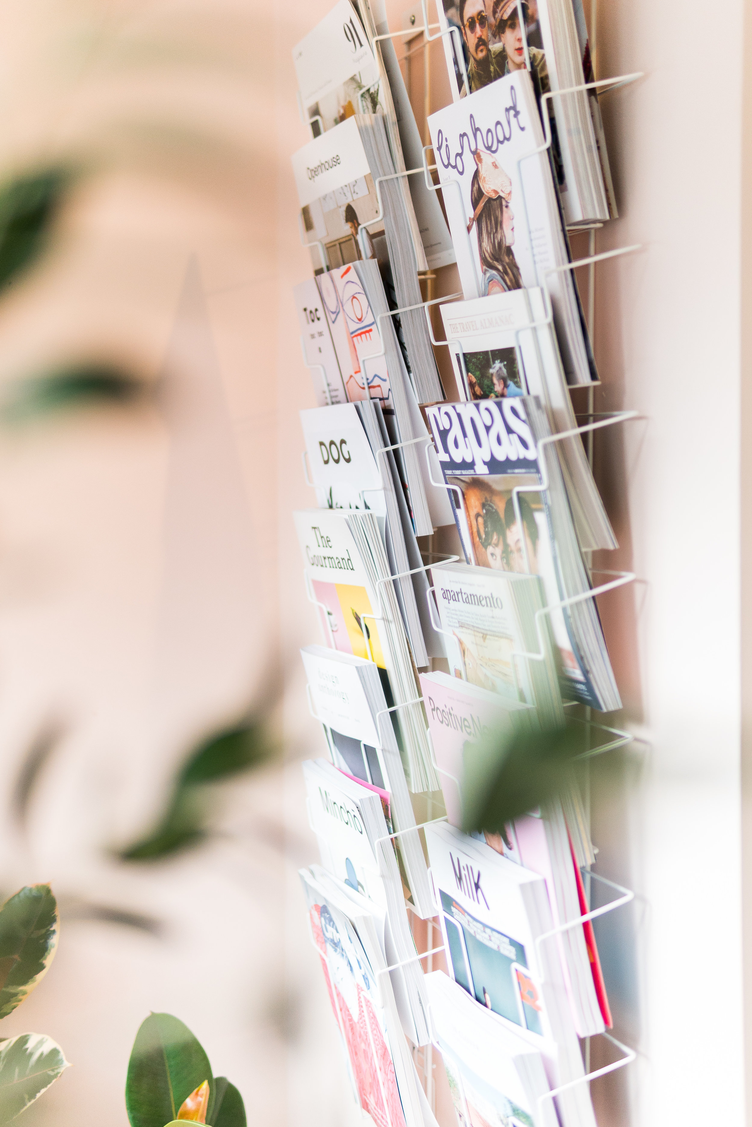 independent magazines at Maud's House lifestyle store