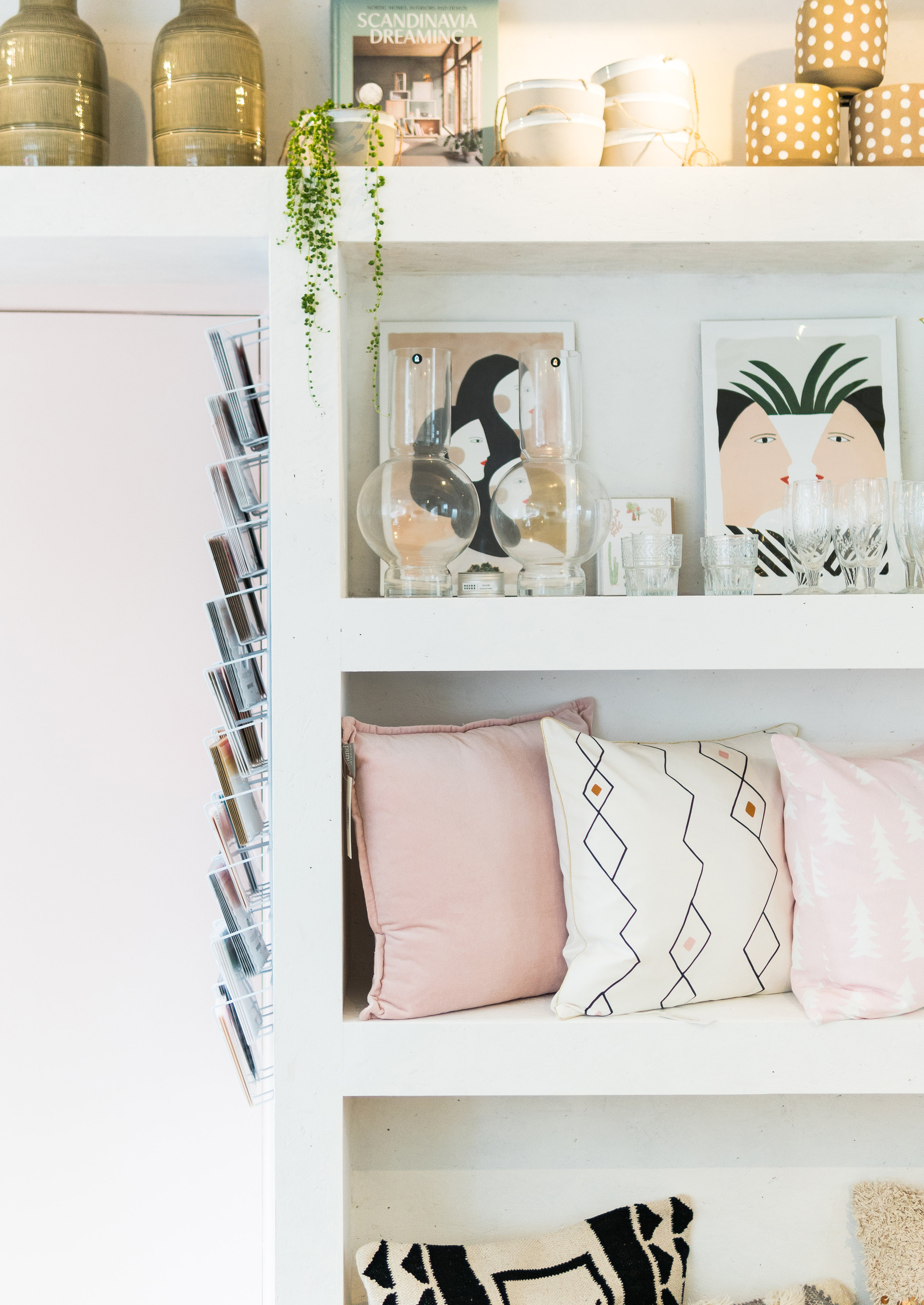 shelves at Maud's House lifestyle store