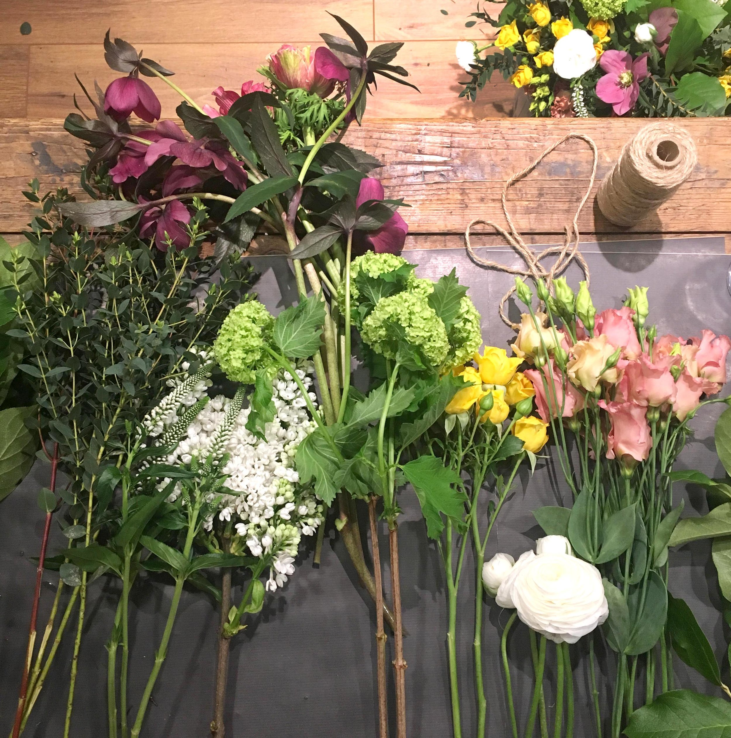 Floral workshop hosted by Inspired Collective at Sarah and Bendrix