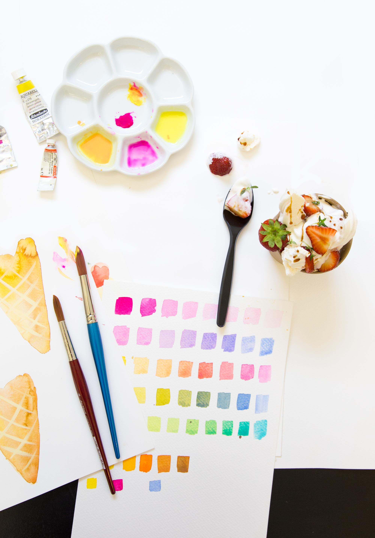 Watercolour workshop at Bears Ice Cream