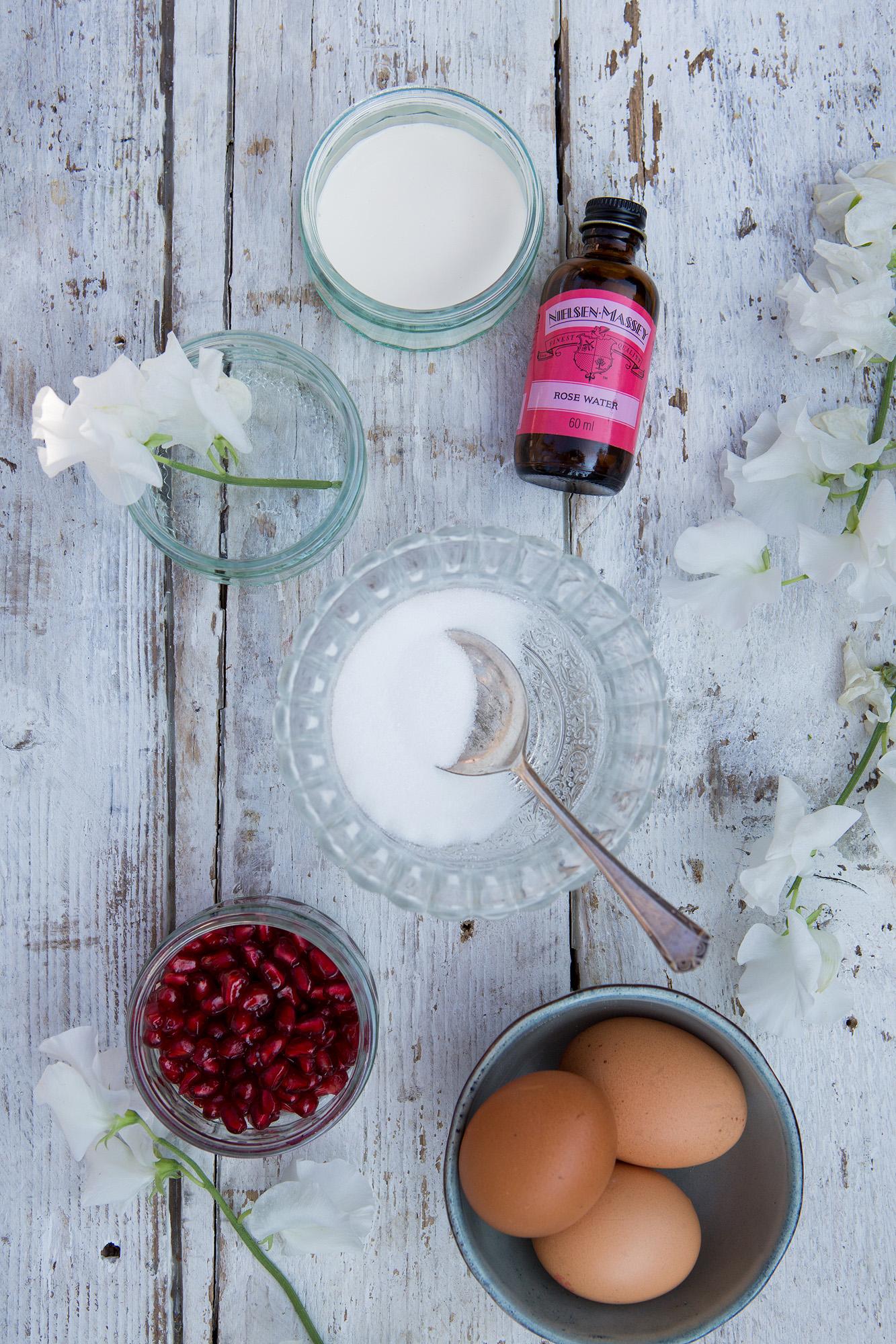 RECIPE: Rose & Pomegranate Cream Pots