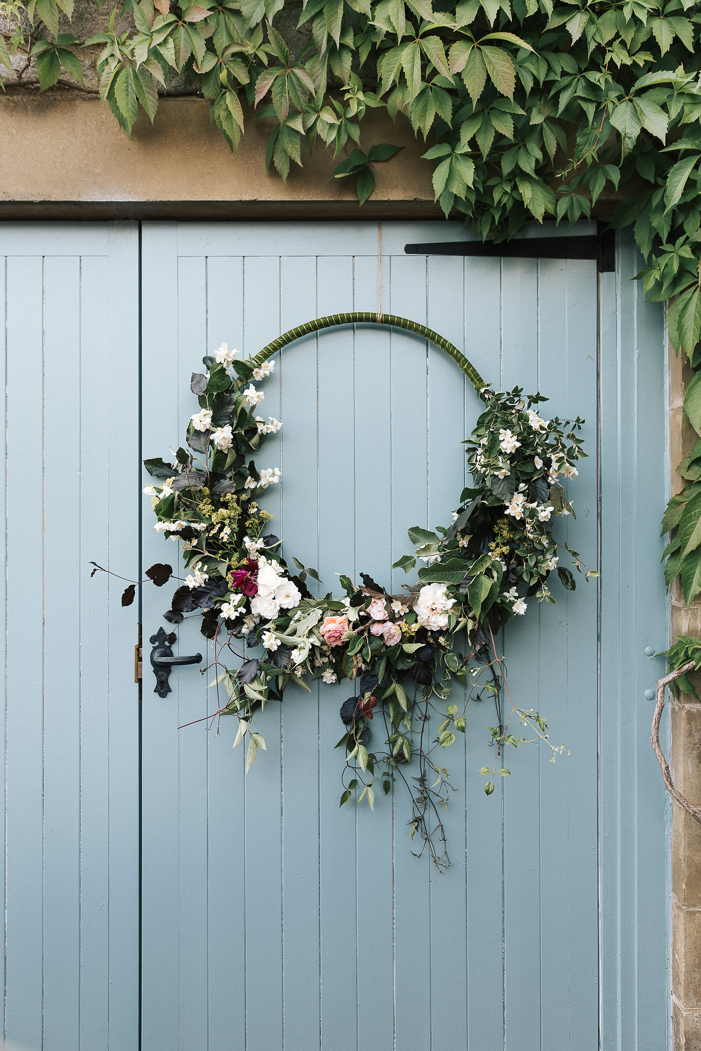 Floral hoop decoration - using British grown flowers