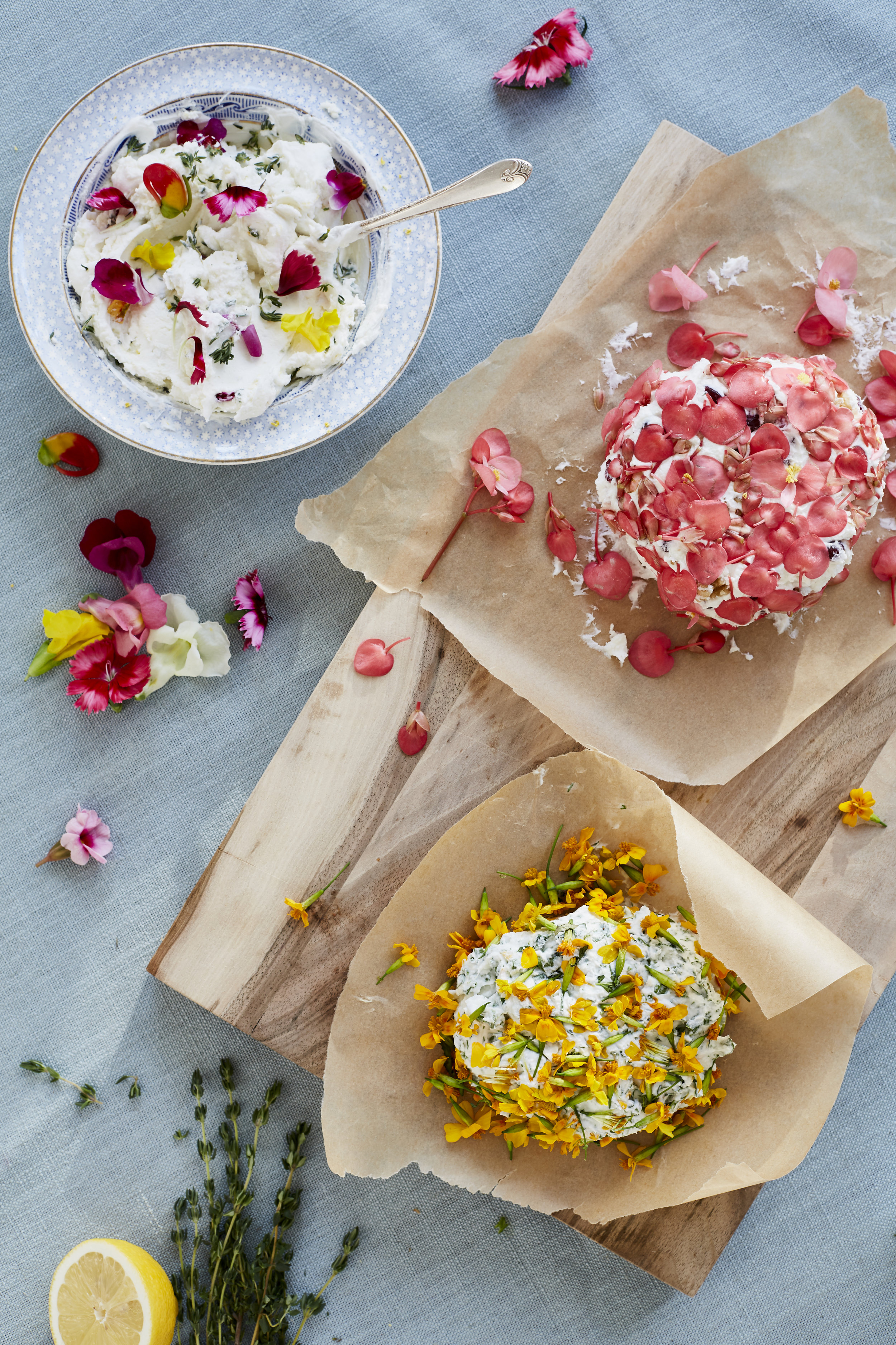 ideas for using Edible flowers as featured in 91 Magazine