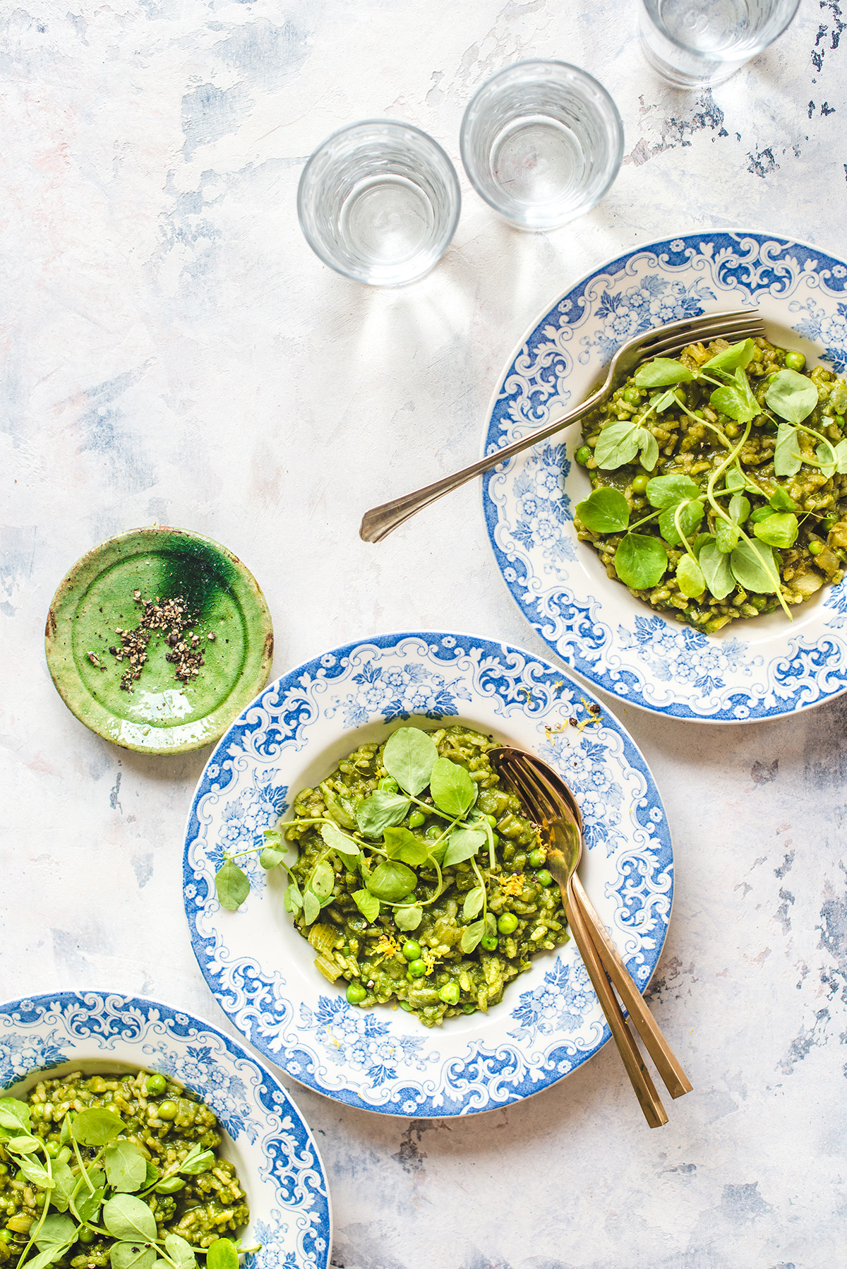 RECIPE: Green Risotto with Herby Puree