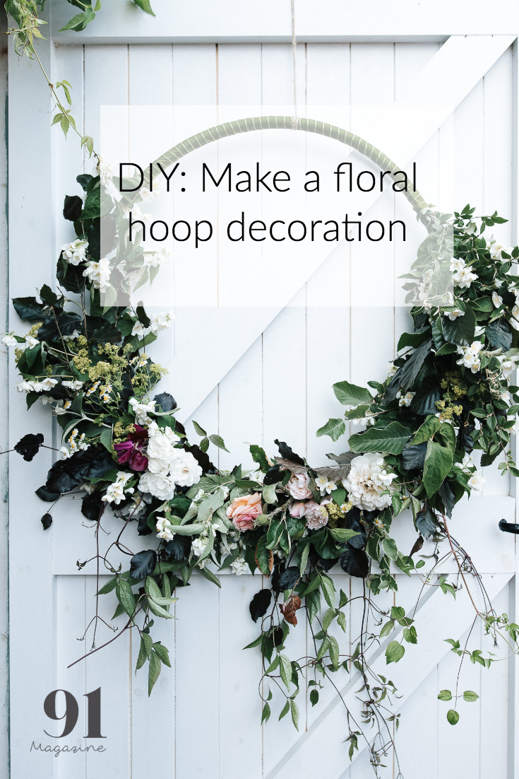 Make A Floral Hoop 91 Magazine