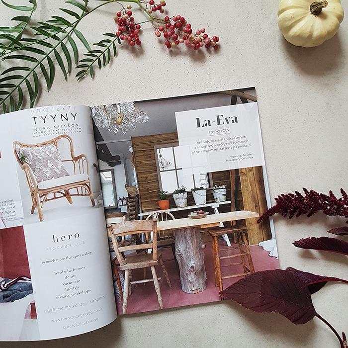 La-Eva feature in 91 Magazine A/W 2018 issue