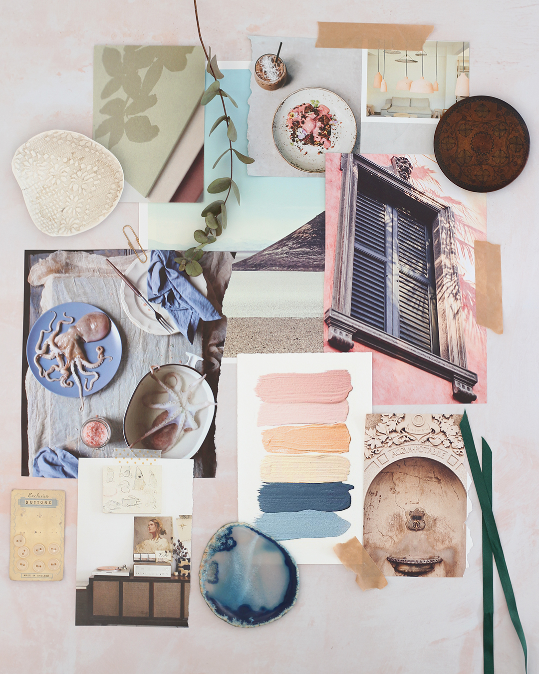 Mood board for curating your style