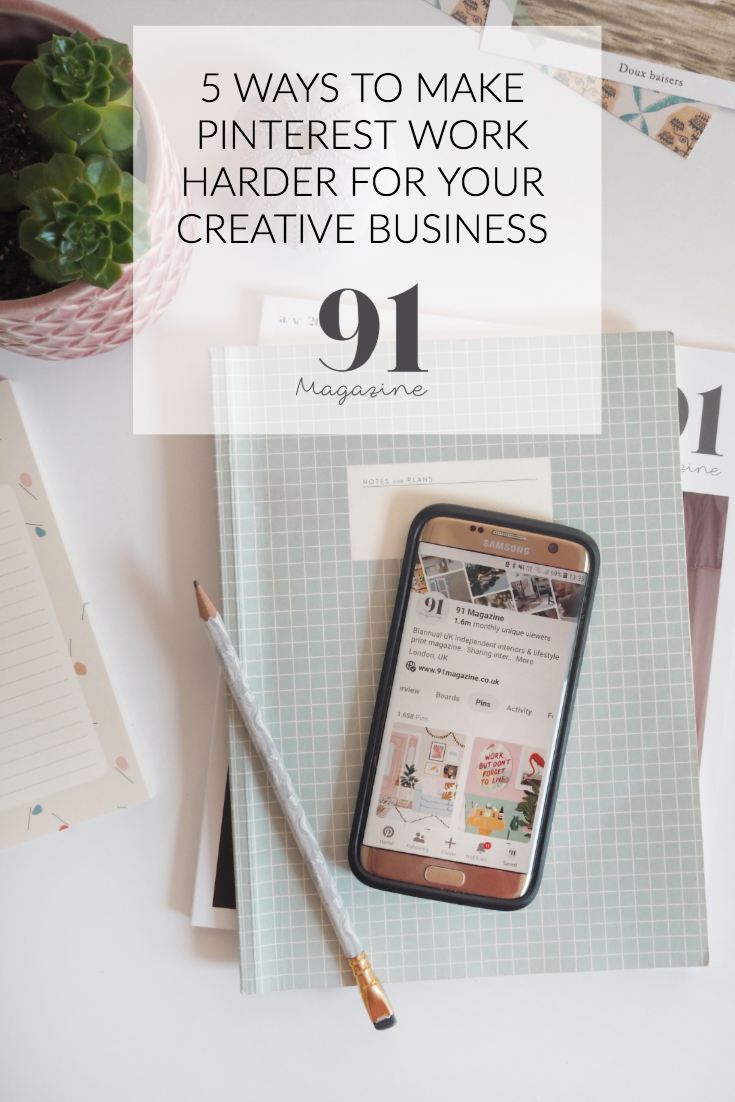 Promoting your creative business with Pinterest