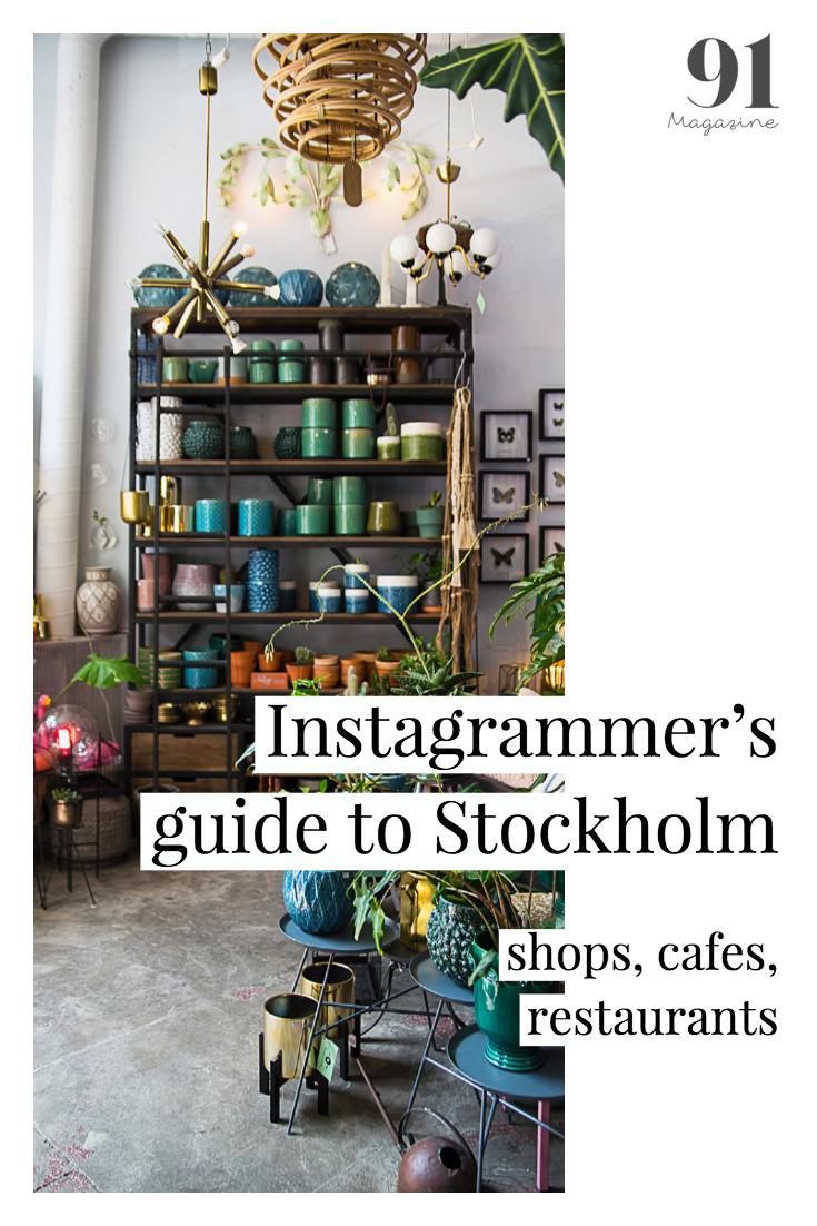 Stockholm guide to shops, cafes, restaurants