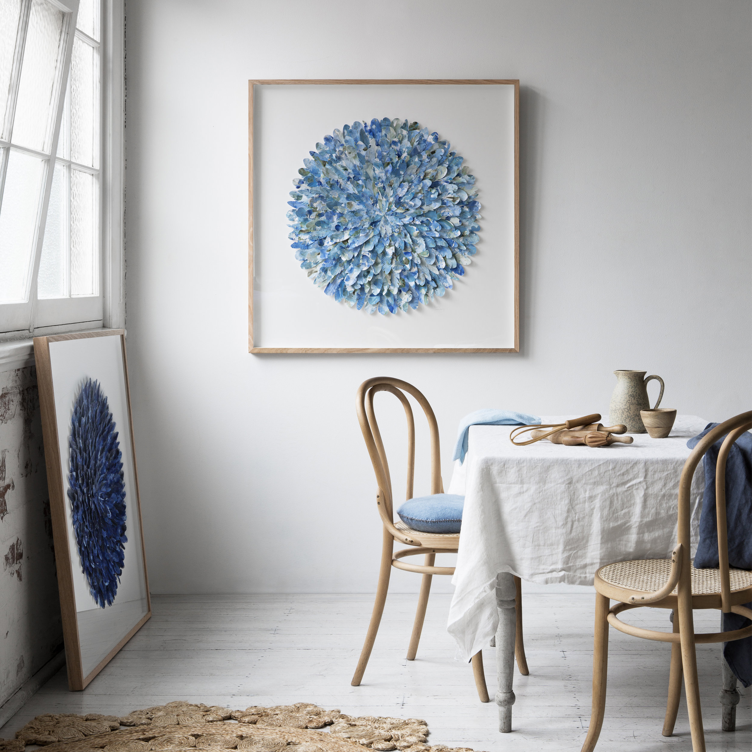 Gemmola mondocherry_blue_paper_feather_artwork_tea_table.jpg