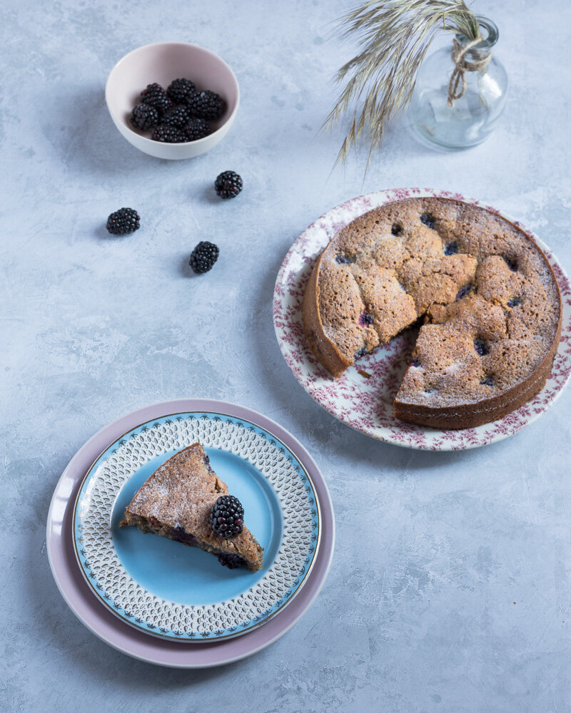 blackberry & hazelnut financier recipe
