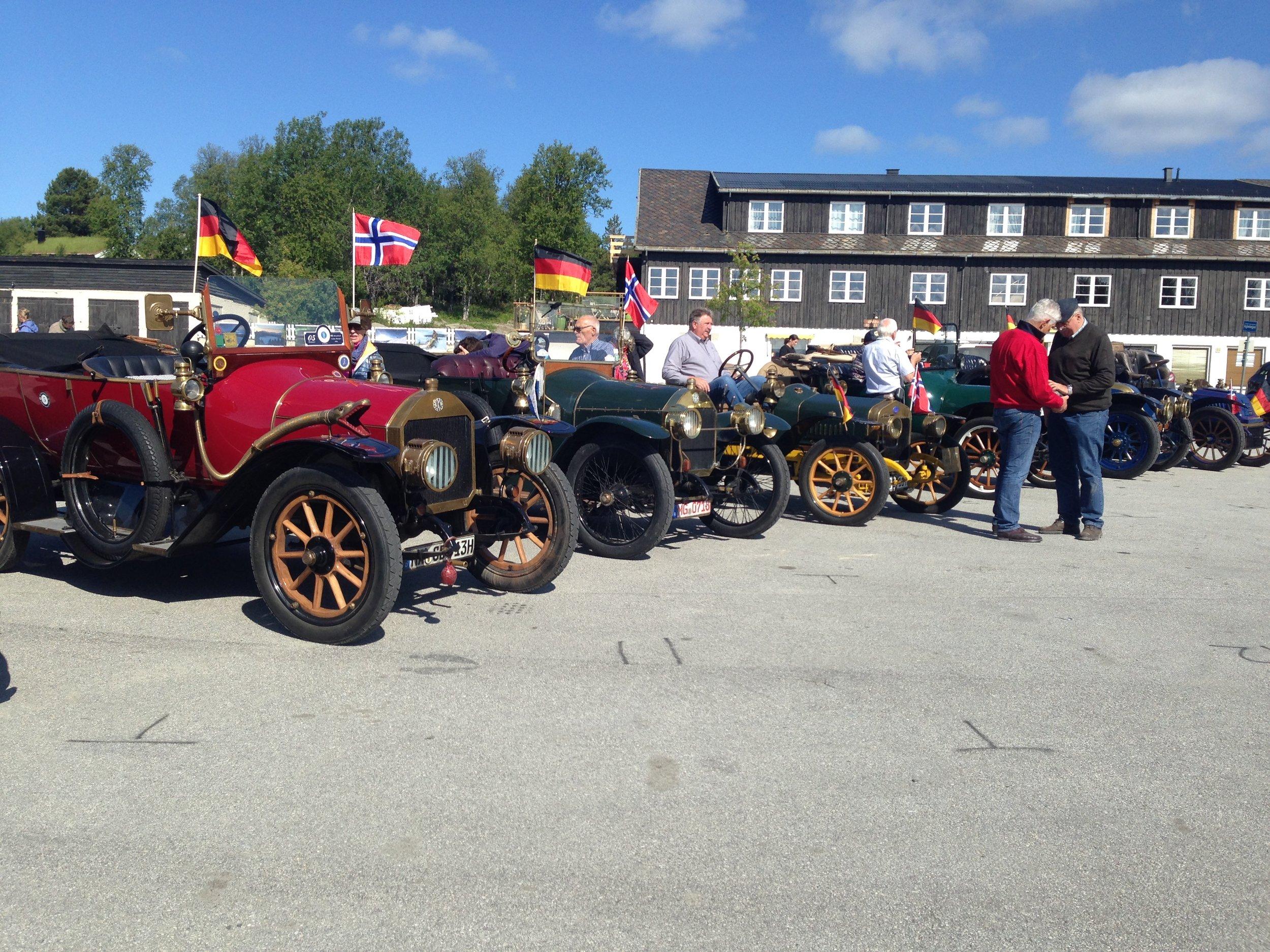 Indrefileten av de virkelig gamle veteranbilene i Tyskland, den eldste fra 1903.