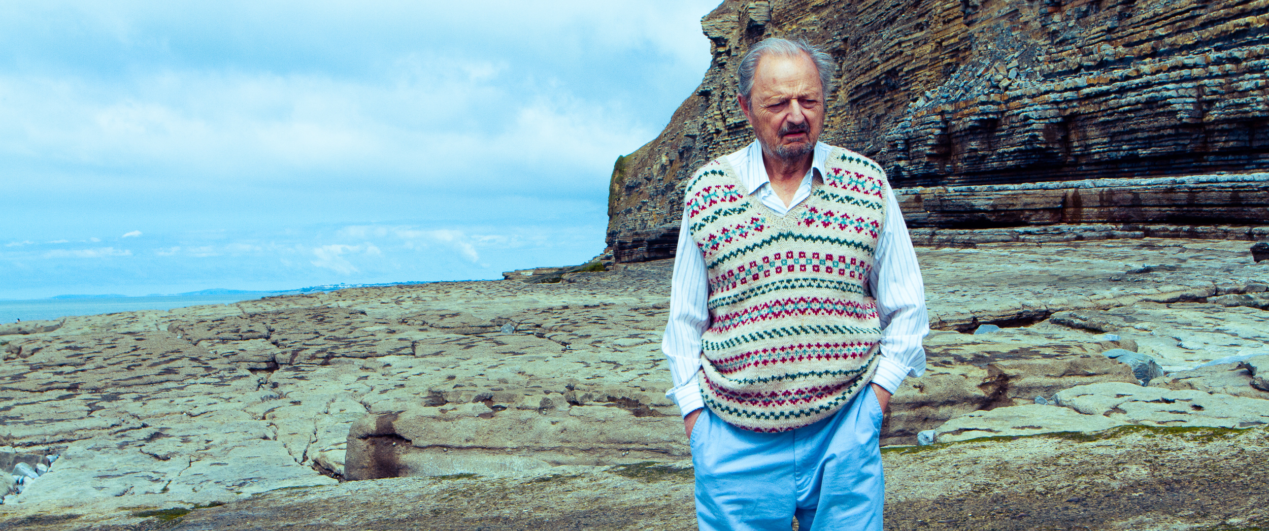 "Peter Bowles in the short film ""Not Waving"""