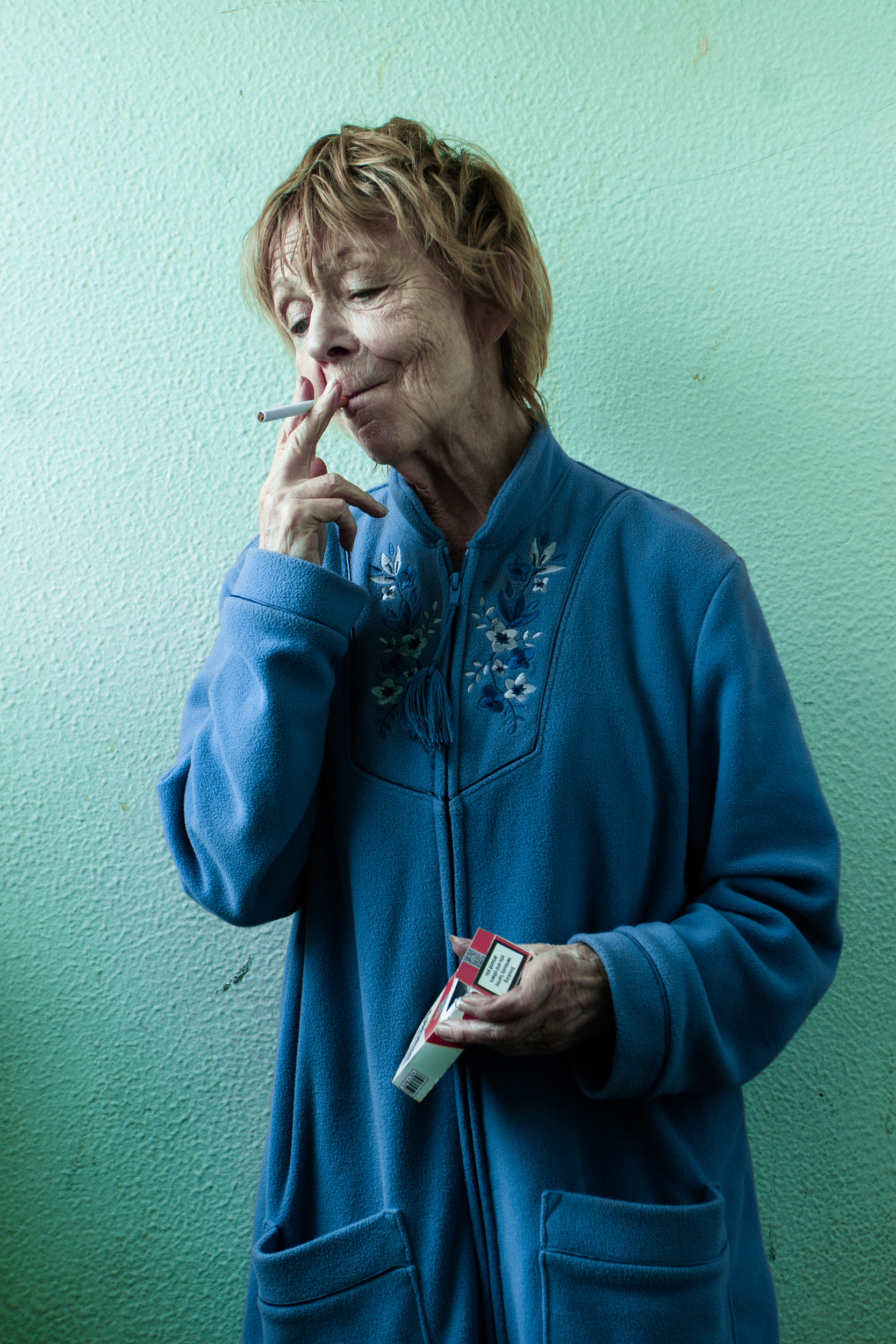 "Sheila Reid in the feature film ""Containment"""