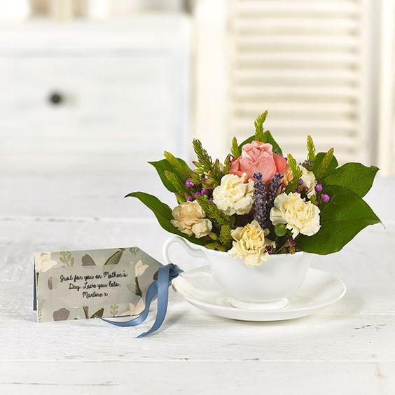 Pretty floral Teacup label