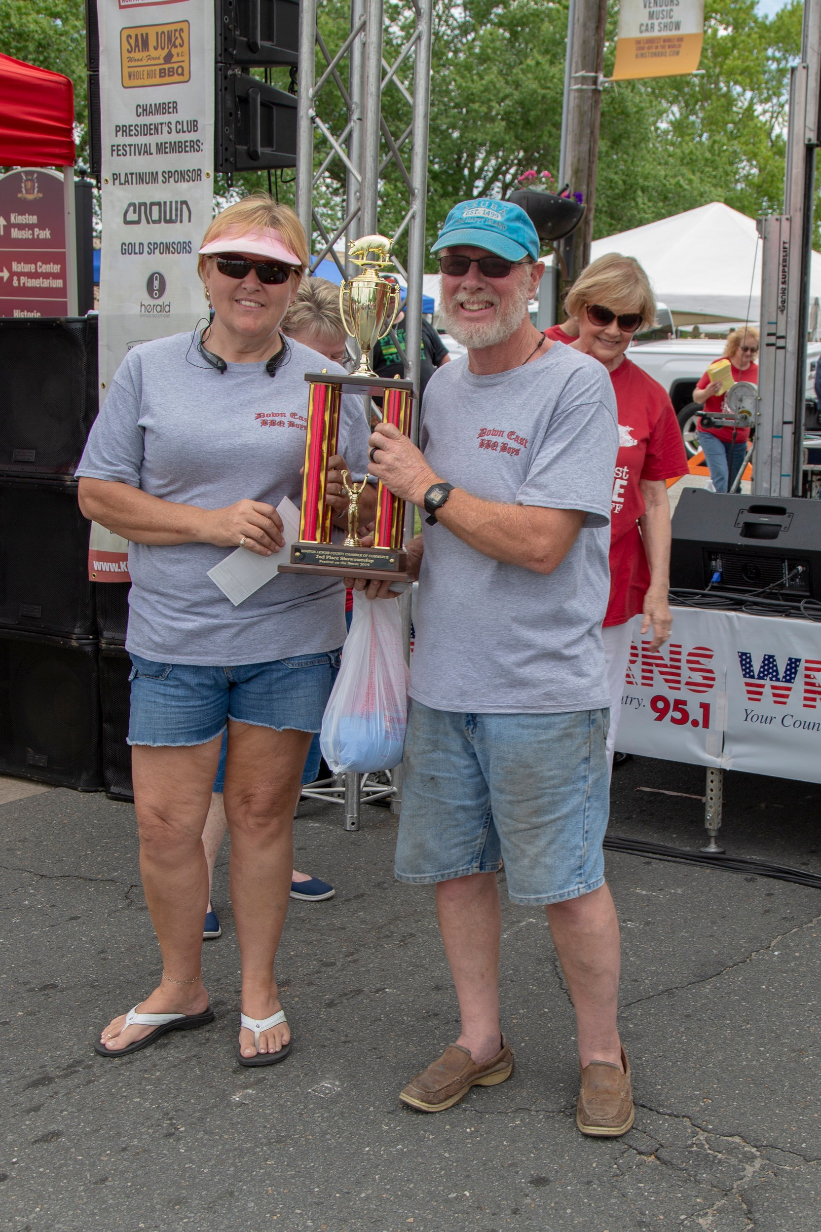 2nd Place Team Daniel Woodring, Down East BBQ Boys Sponsor: Pat and Kendall Hill $200 and Trophy