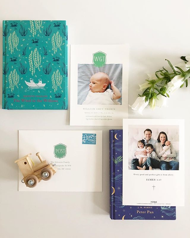 We can't believe Baby Grey is 3 months old! But we finally got his announcements out so now he's legit, right?! 😉We found the perfect preppy-but-not-too-serious announcement on @minted which looked amazing with our newborn photos from @meganschmitzphoto and mama makeup by @makeupbykevan 💚💙